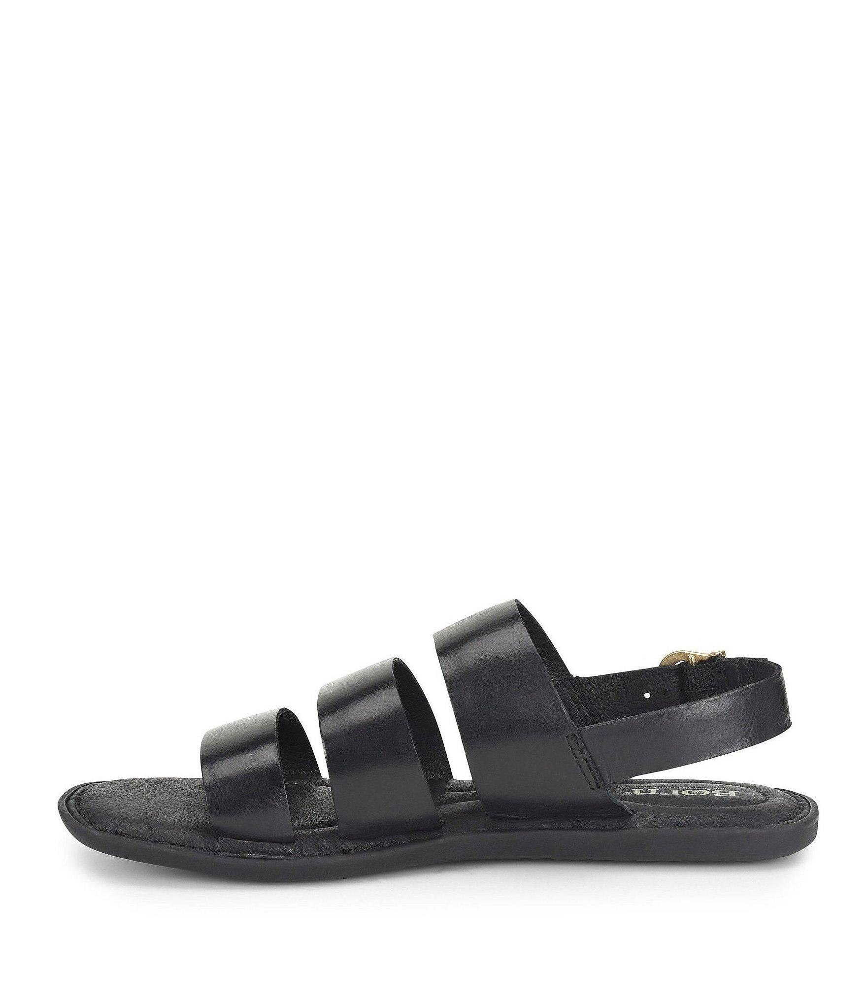 a785b5bfac1 Born Black Froya Leather Banded Sandals