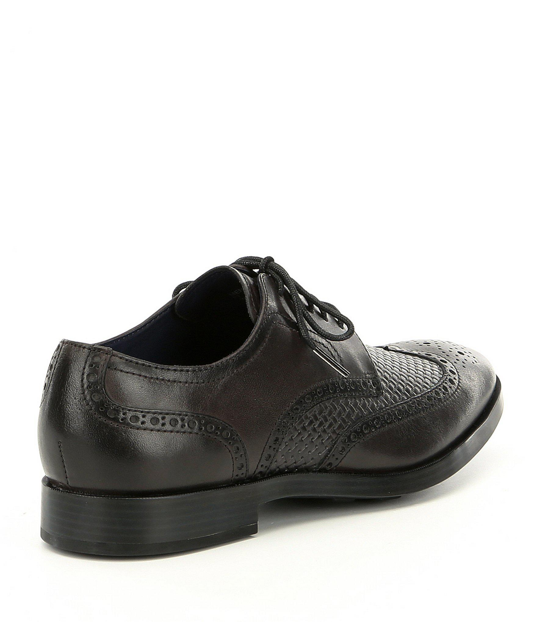 8f4b1e85c Cole Haan Men's Jefferson Grand Wingtip Oxfords in Black for Men - Lyst