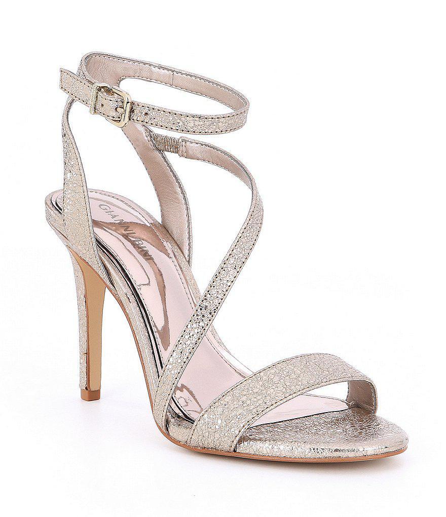 bfb8f17b06e Gianni Bini Metallic Evaleen Asymmetrical Dress Sandals