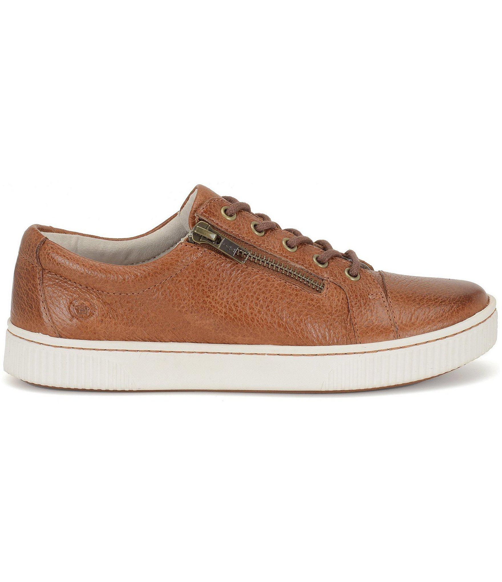 b9ece020600 Born - Brown Tamara Casual Zip Leather Sneakers - Lyst. View fullscreen