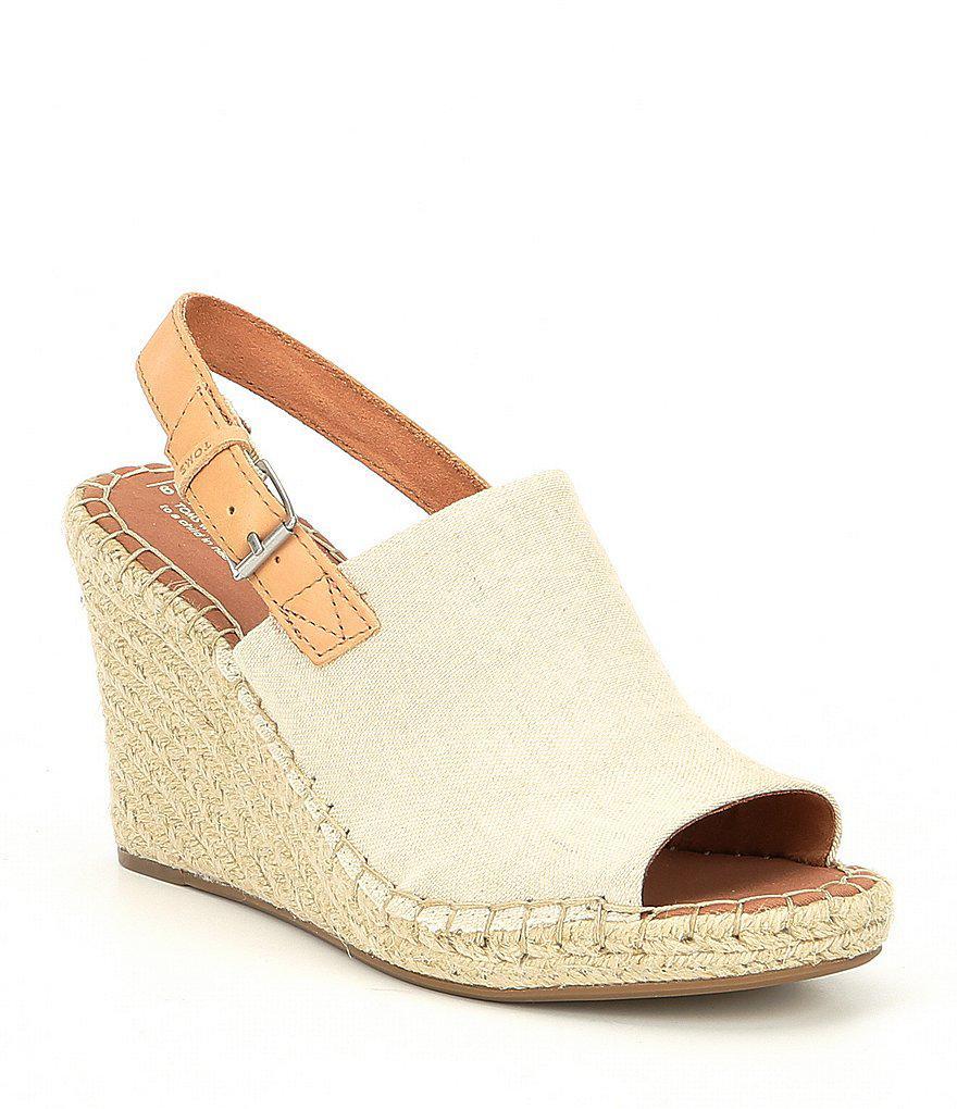 iEaLVltwwe Womens Monica Hemp Chambray Espadrille Platform Wedge Sandals Bg8Z0S
