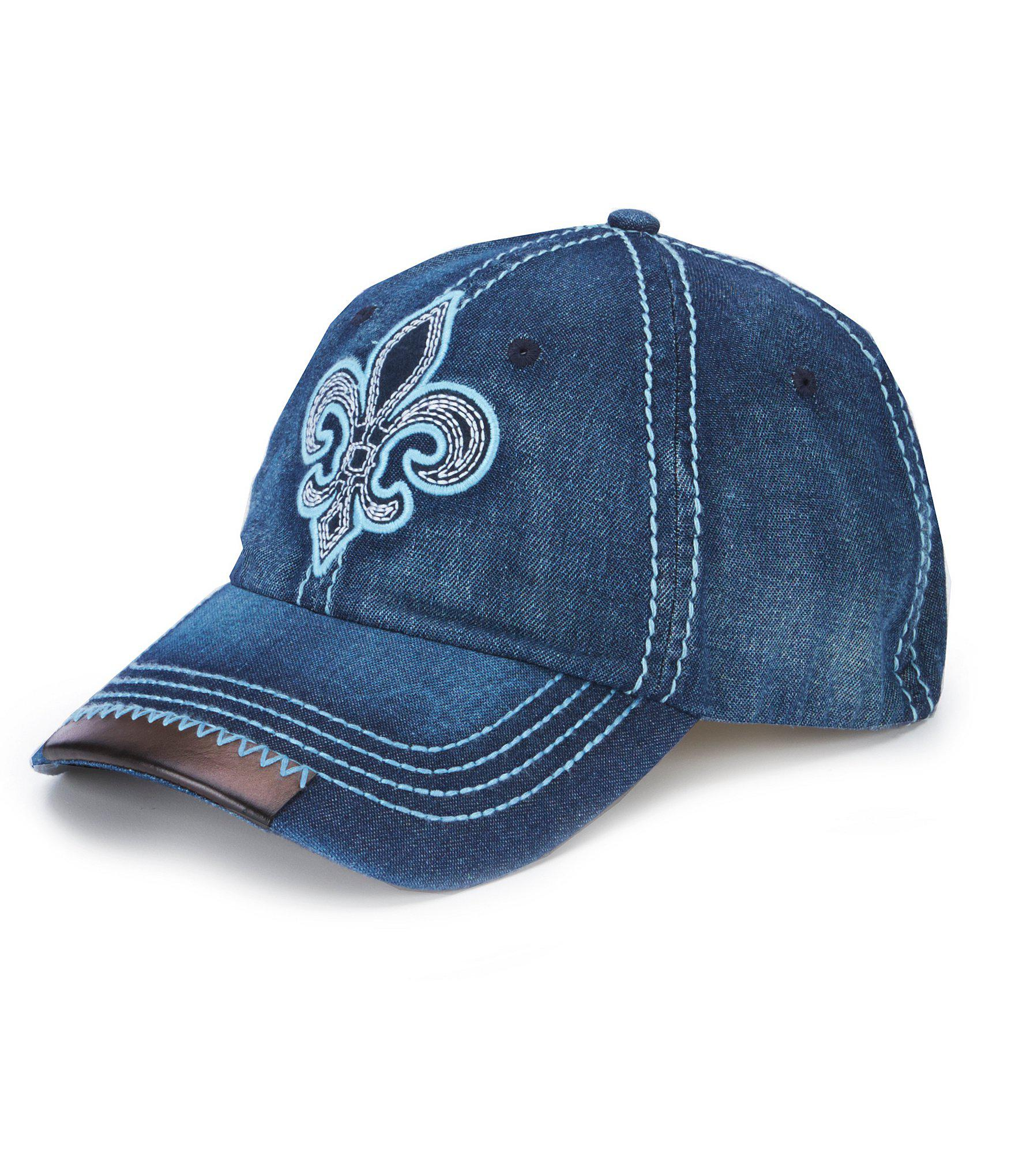 promo code 22435 a6cb8 Lyst - Cremieux Jeans Patch Denim Baseball Cap in Blue for Men