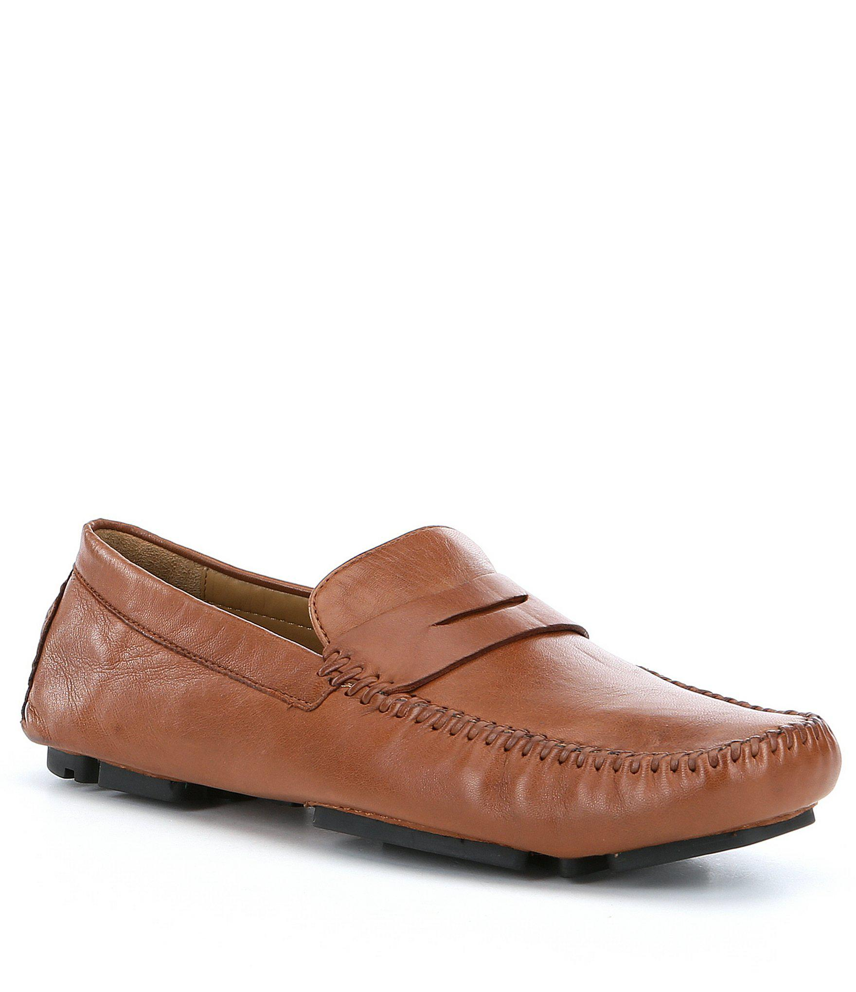 40d3e533abd Lyst - Robert Zur Men ́s Sven Leather Penny Loafers in Brown for Men