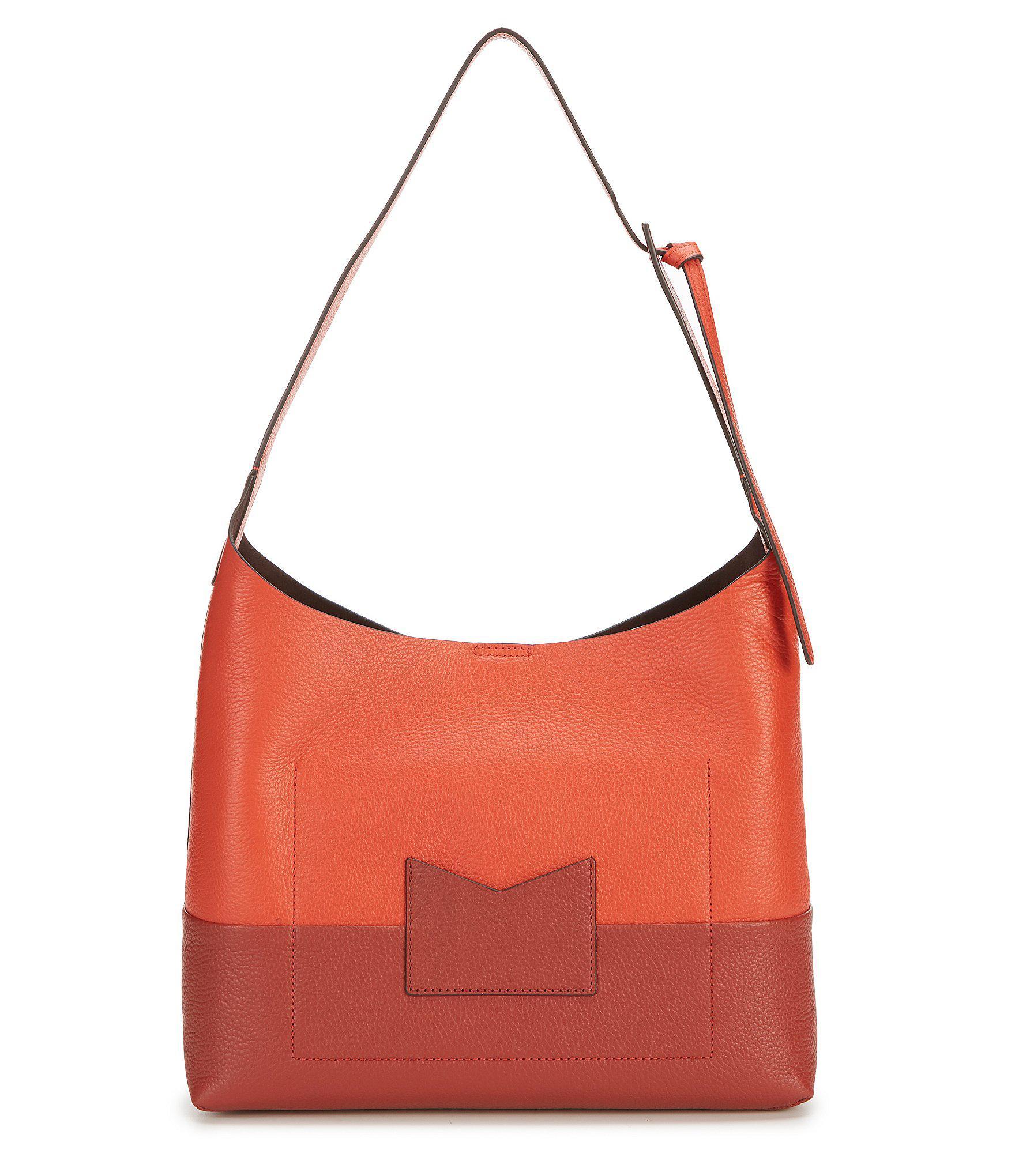 1895be2c5df7 MICHAEL Michael Kors - Red Junie Medium Colorblock Hobo Bag - Lyst. View  fullscreen
