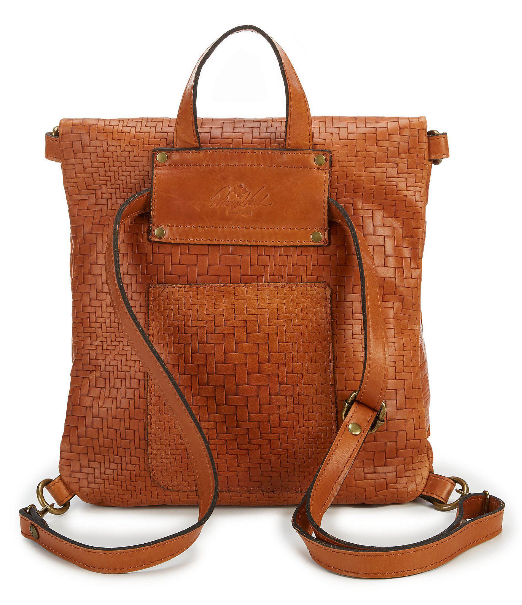00b14542b5c Women's Brown Luzille Tasseled Woven Convertible Backpack