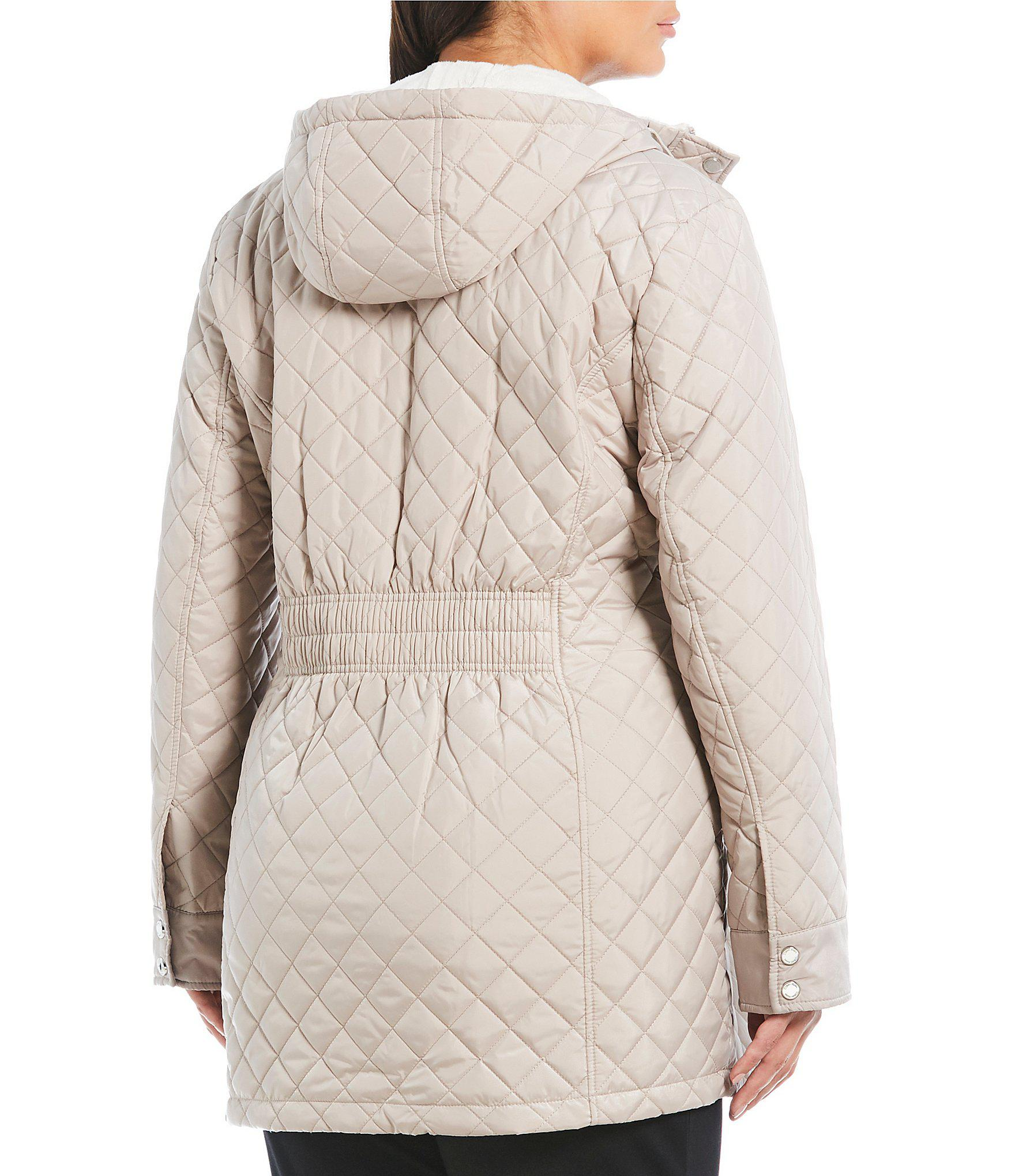 fd7f33d959261 Calvin Klein - Multicolor Plus Size Single Breasted Hooded Quilted Coat -  Lyst. View fullscreen