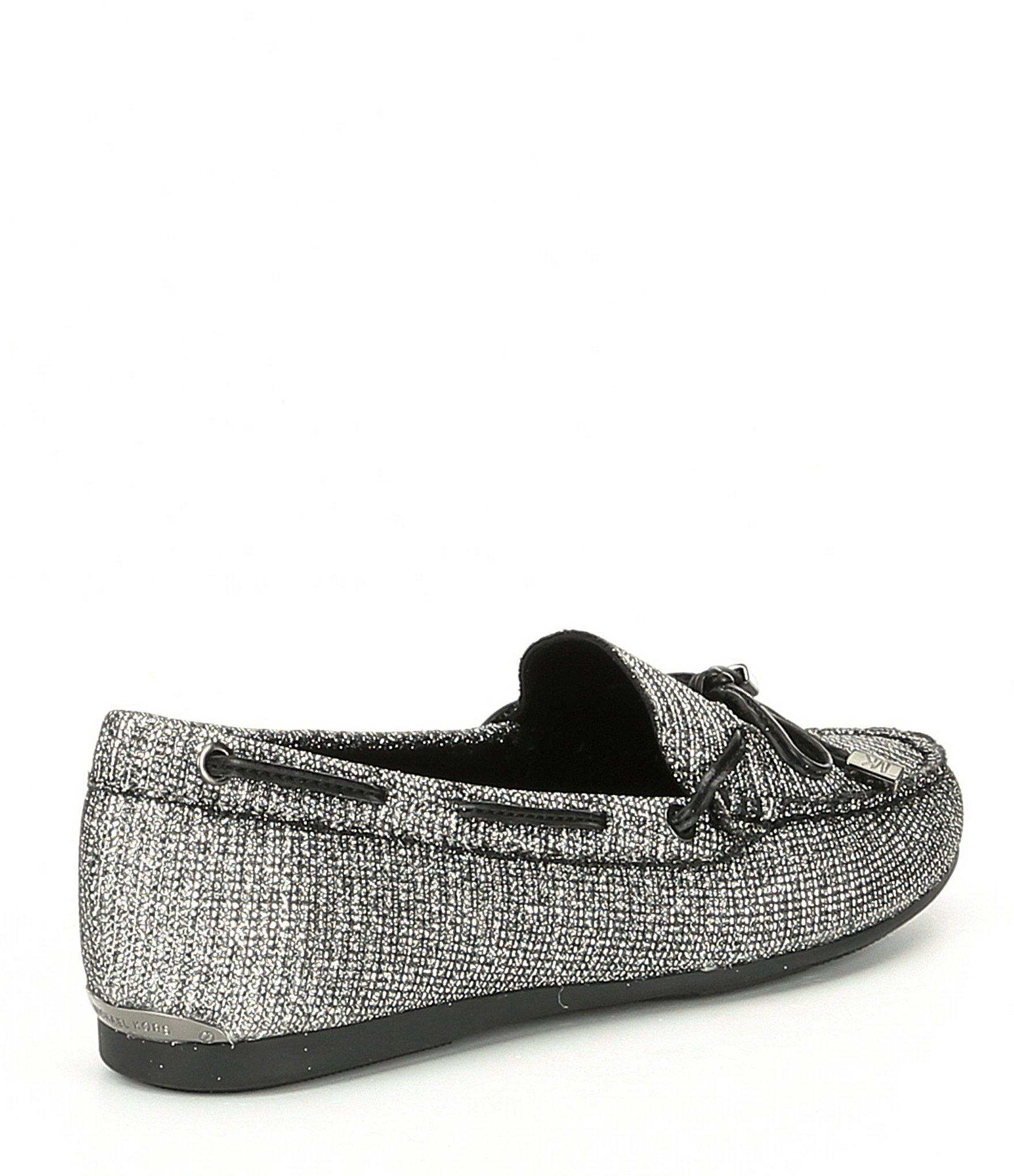 033ea32a5516f0 MICHAEL Michael Kors Sutton Glitter Chain Mesh Moc Loafers in Black ...