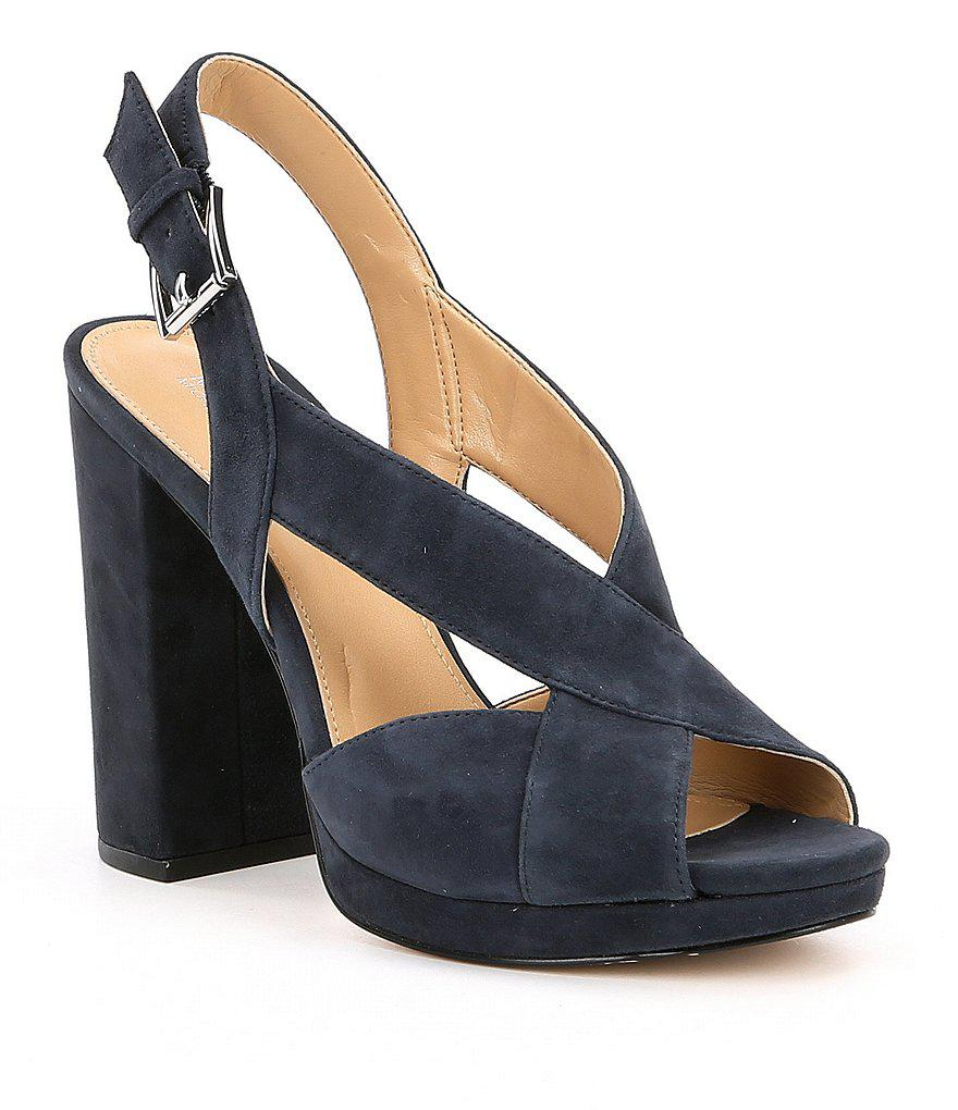 99af52e6280a Lyst - MICHAEL Michael Kors Becky Suede Platform Sandals in Black