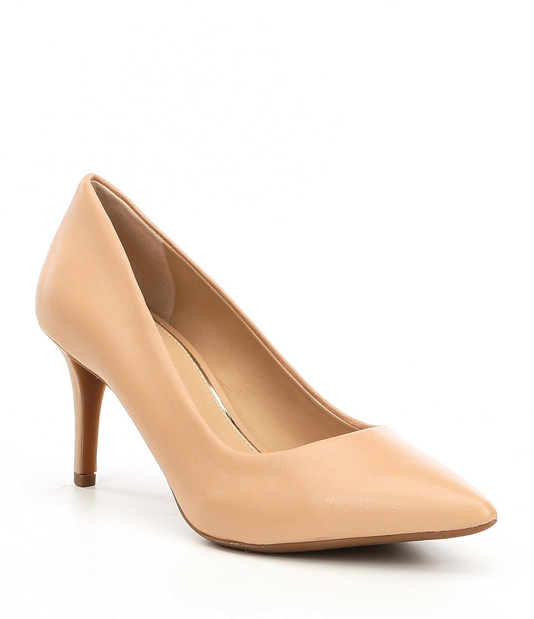 89e82598f88 Women's Natural Metilda Leather Pointy Toe Pumps