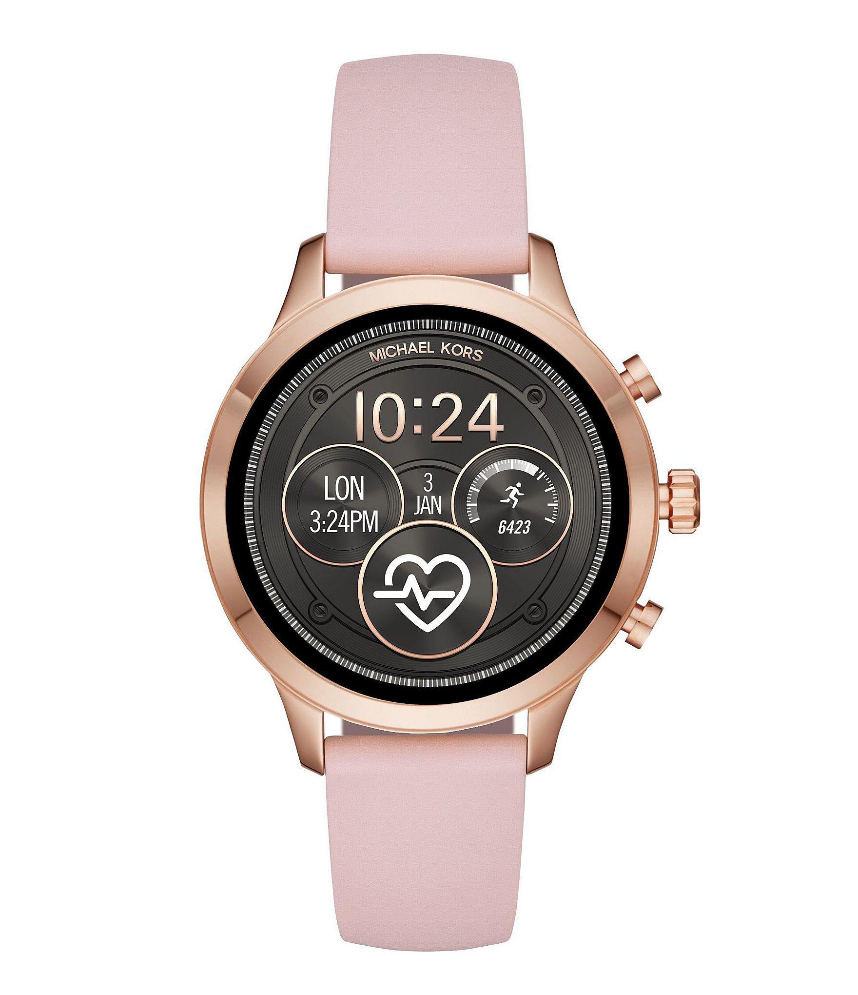 297376b7afed Michael Kors - Runway Pink Smartwatch - Lyst. View fullscreen