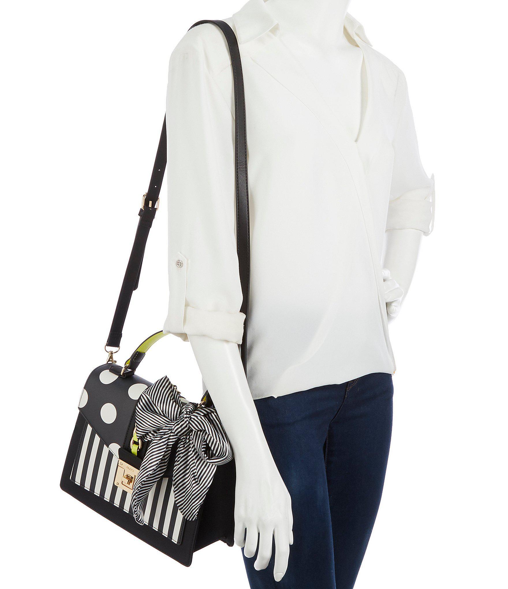 92b14aec5d1 Lyst - ALDO Glendaa Small Top Handle Colorblock Handbag