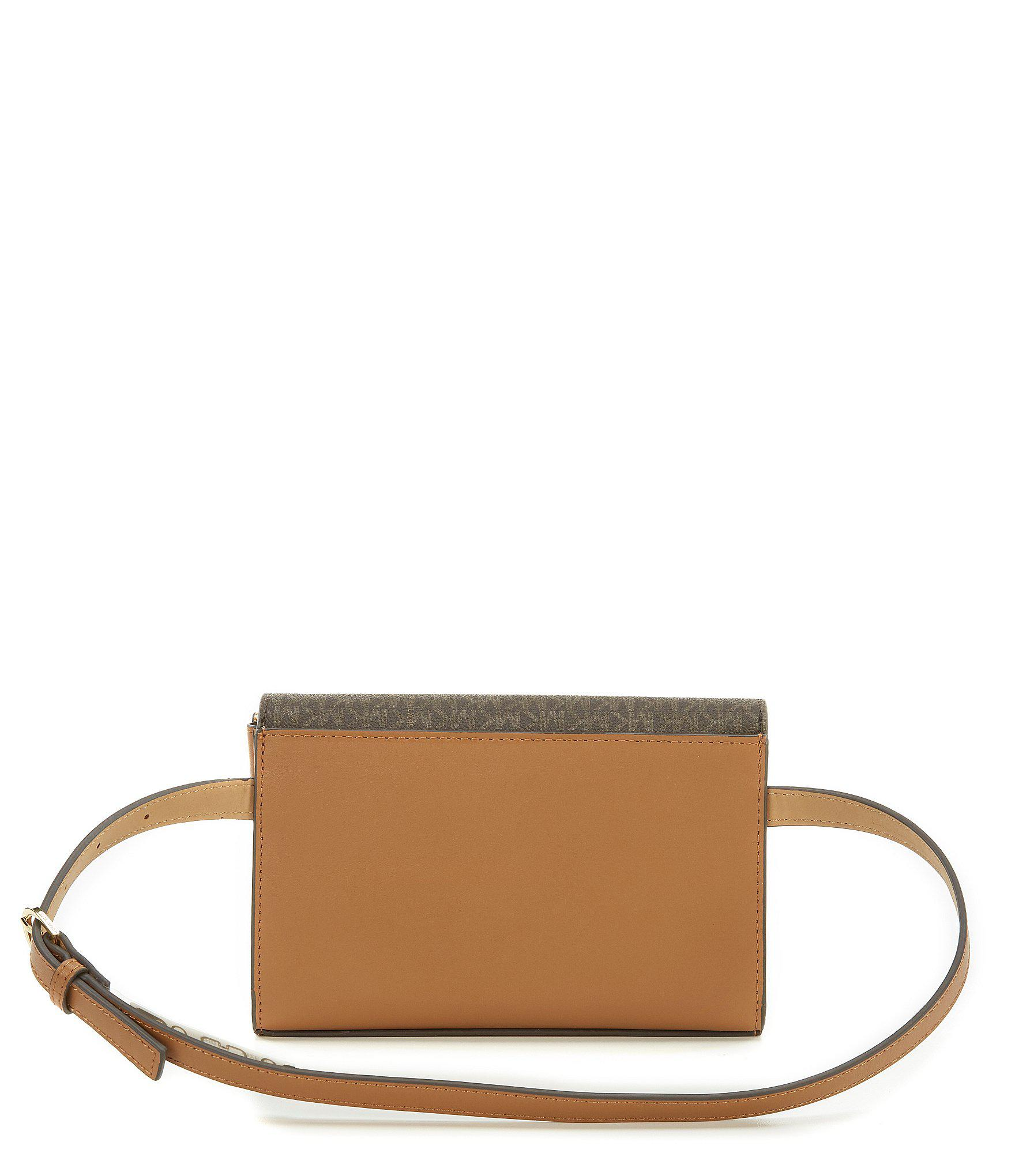 ae7b7a777efb Michael Kors Signature Colorblock Belt Bag - Lyst
