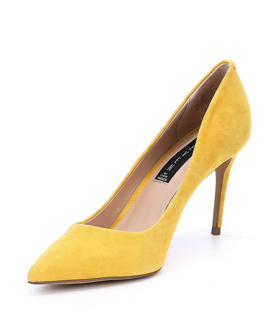 Steven by Steve Madden Local Suede Pointed Toe Pumps kfuH8dRU