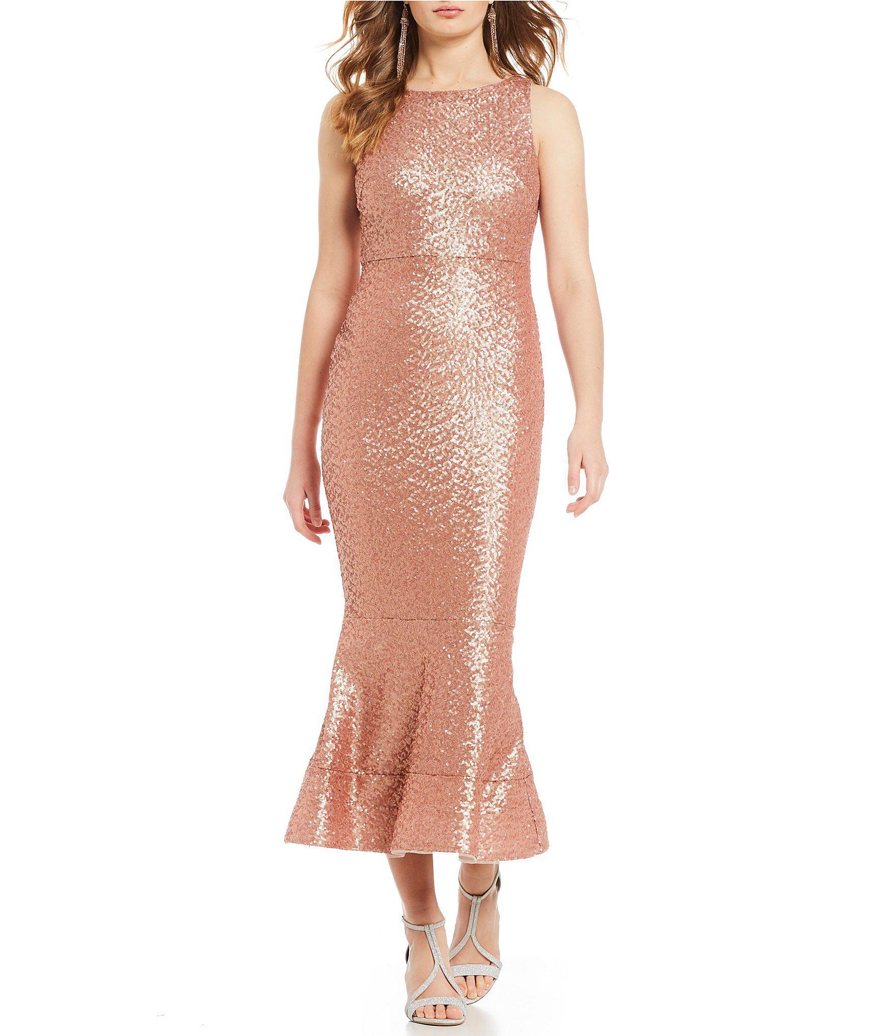 a014c1df9 Gianni Bini Juliet Sequin Midi Dress in Pink - Lyst