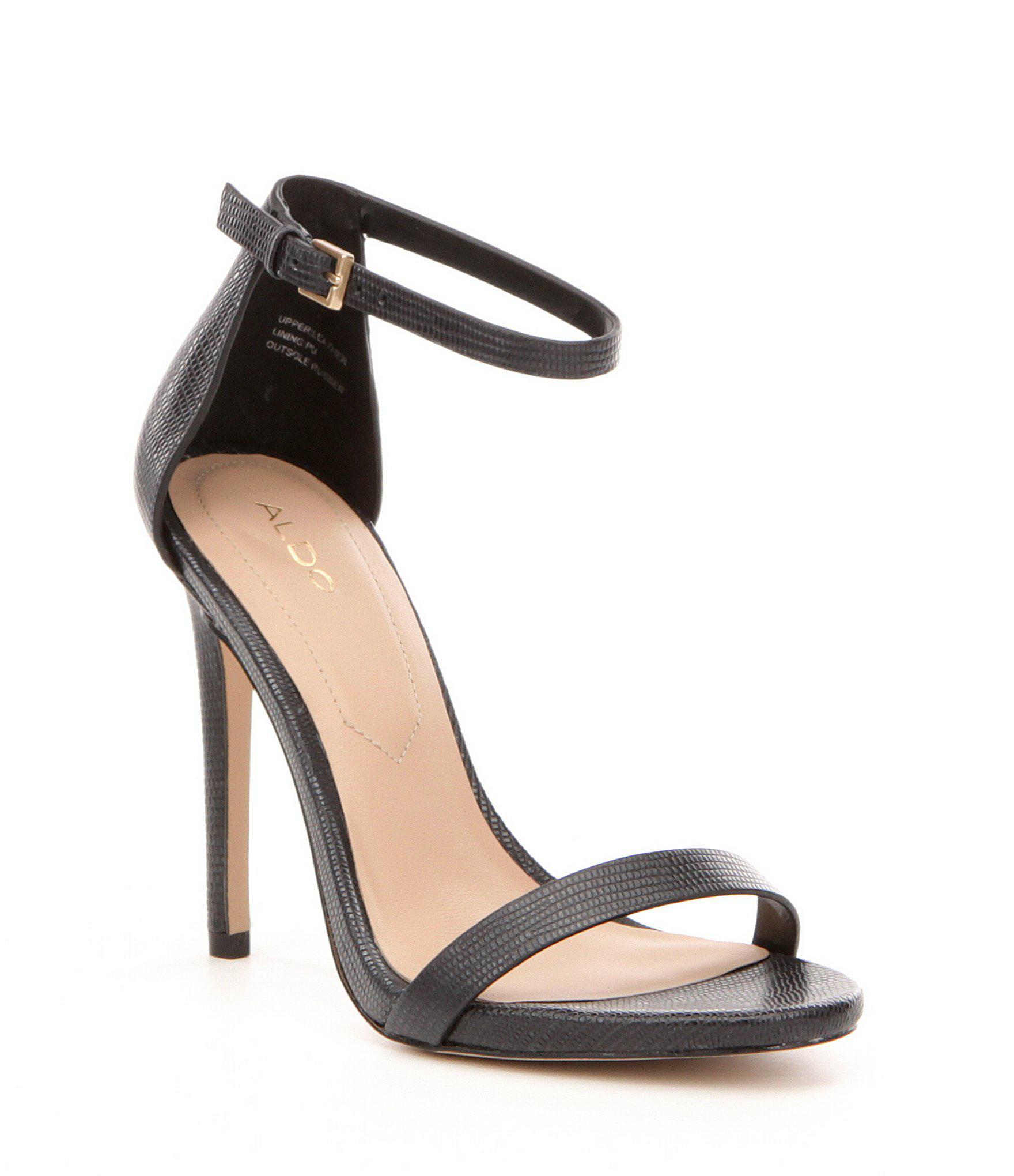 9b906cb484b Lyst - ALDO Caraa Ankle-strap Leather Dress Sandals in Black