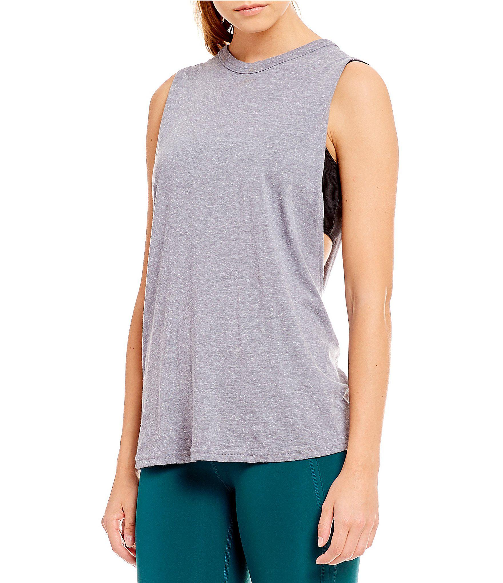 4d63bb8ee633b Lyst - Free People Fp Movement No Sweat Tank Top in Gray