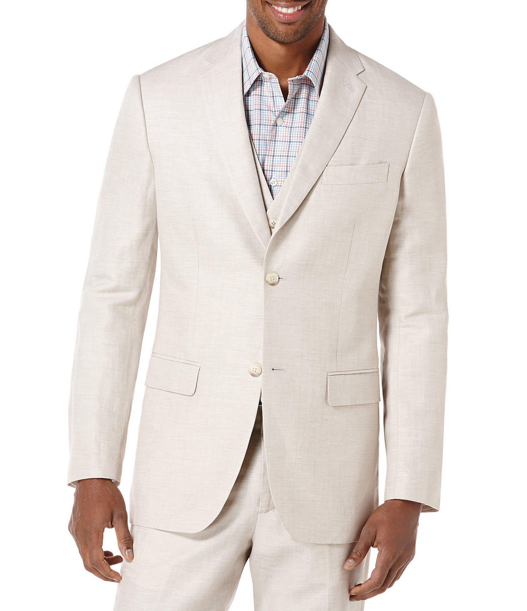 0a5a6ebe47 Lyst - Perry Ellis Big   Tall Linen Herringbone Blazer for Men