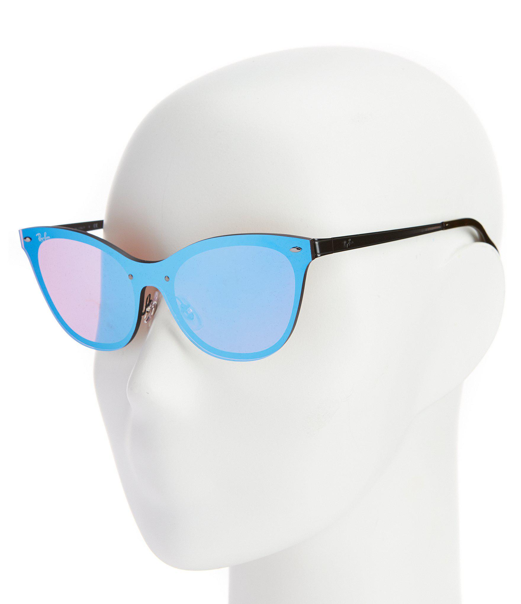 c46dbb49e8 ... cheap ray ban blue blaze collection cateye rimless mirrored lens  sunglasses lyst. view fullscreen 02dd3