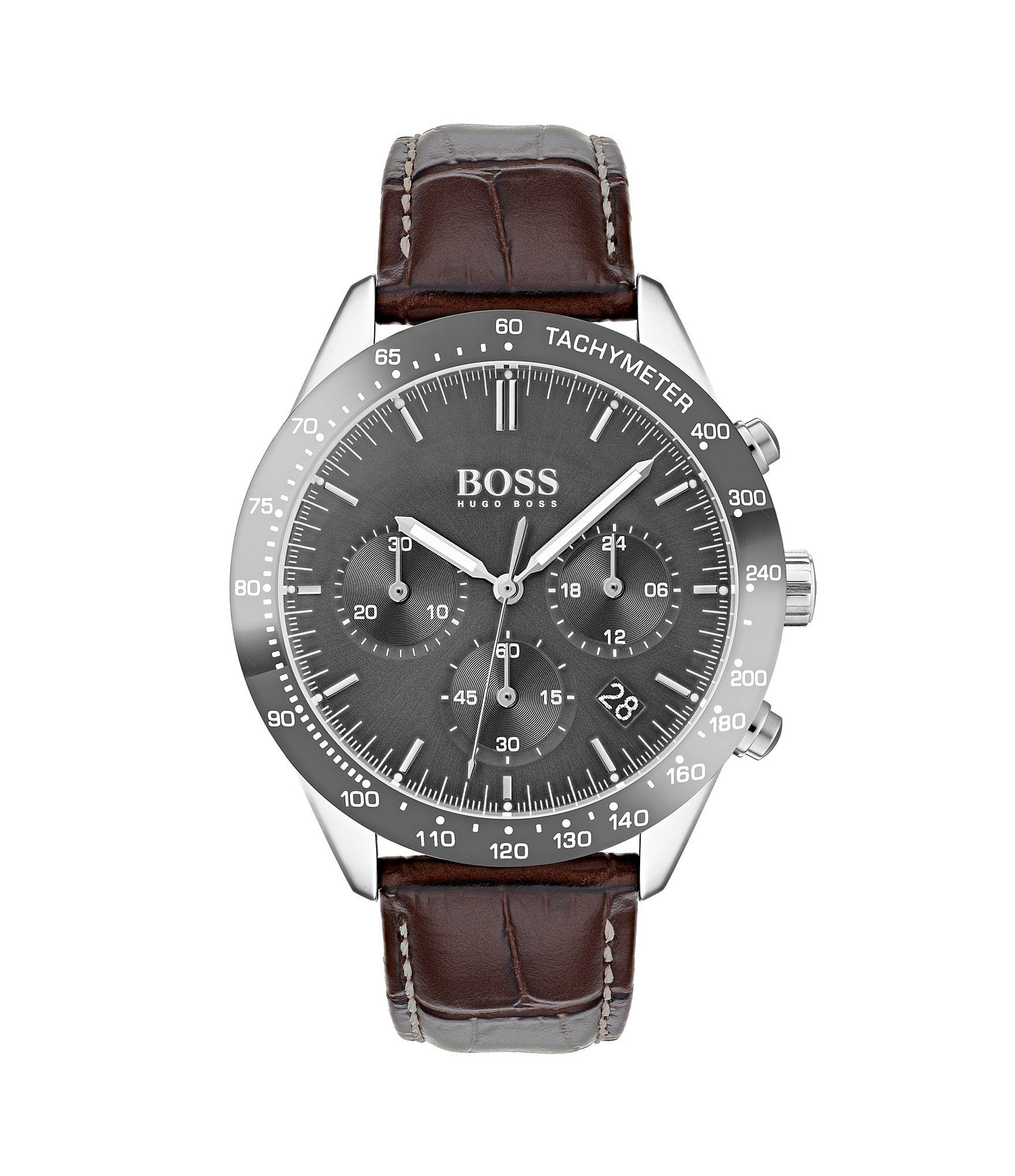 af3d1de27 BOSS - Black Boss The Talent Collection Brown Leather Watch for Men - Lyst.  View fullscreen