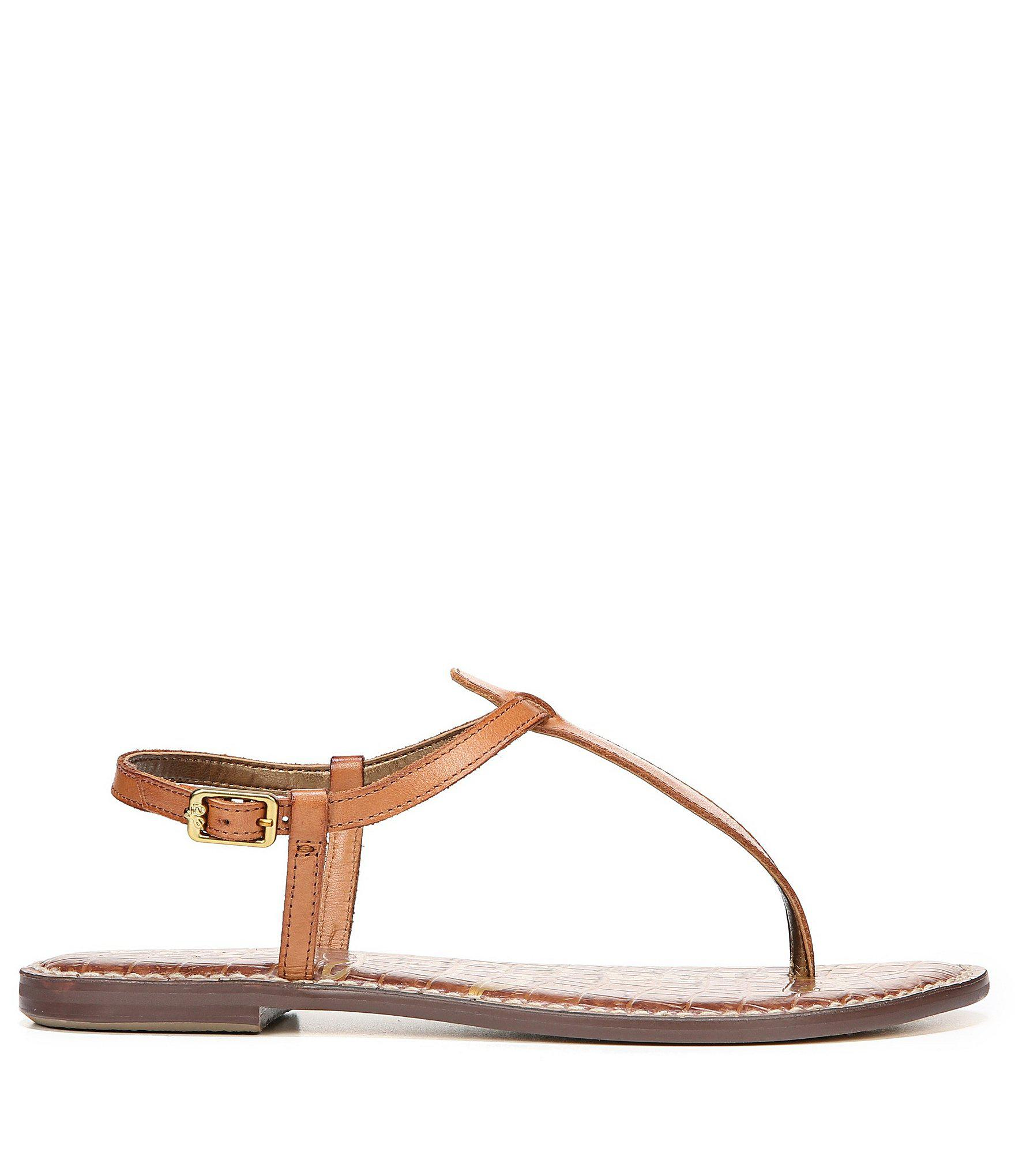 2e07a23c7 Sam Edelman - Brown Gigi T-strap Sandals - Lyst. View fullscreen