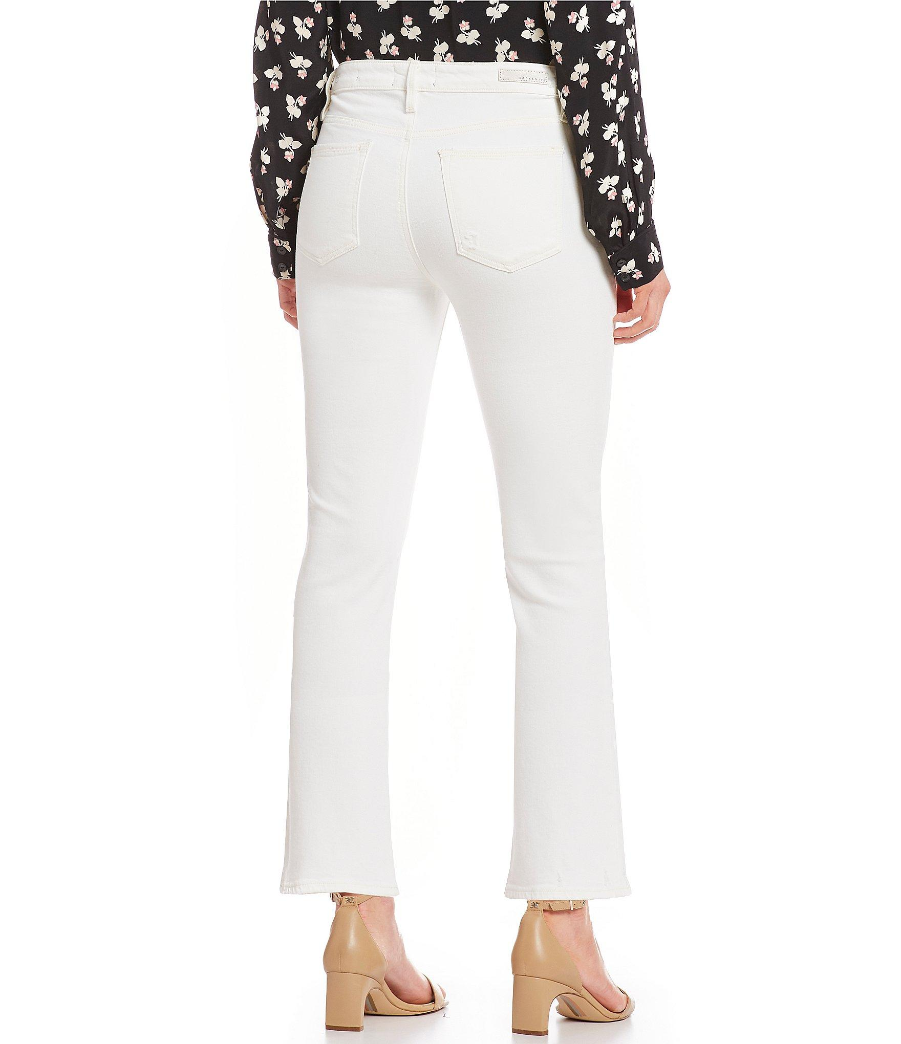 b26b1dfd Sanctuary - White Connector Kick Crop Exposed Fly Jeans - Lyst. View  fullscreen