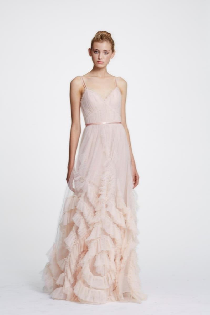 9493df1d76 Marchesa notte - Pink Sleeveless Textured Tulle Gown - Lyst. View fullscreen