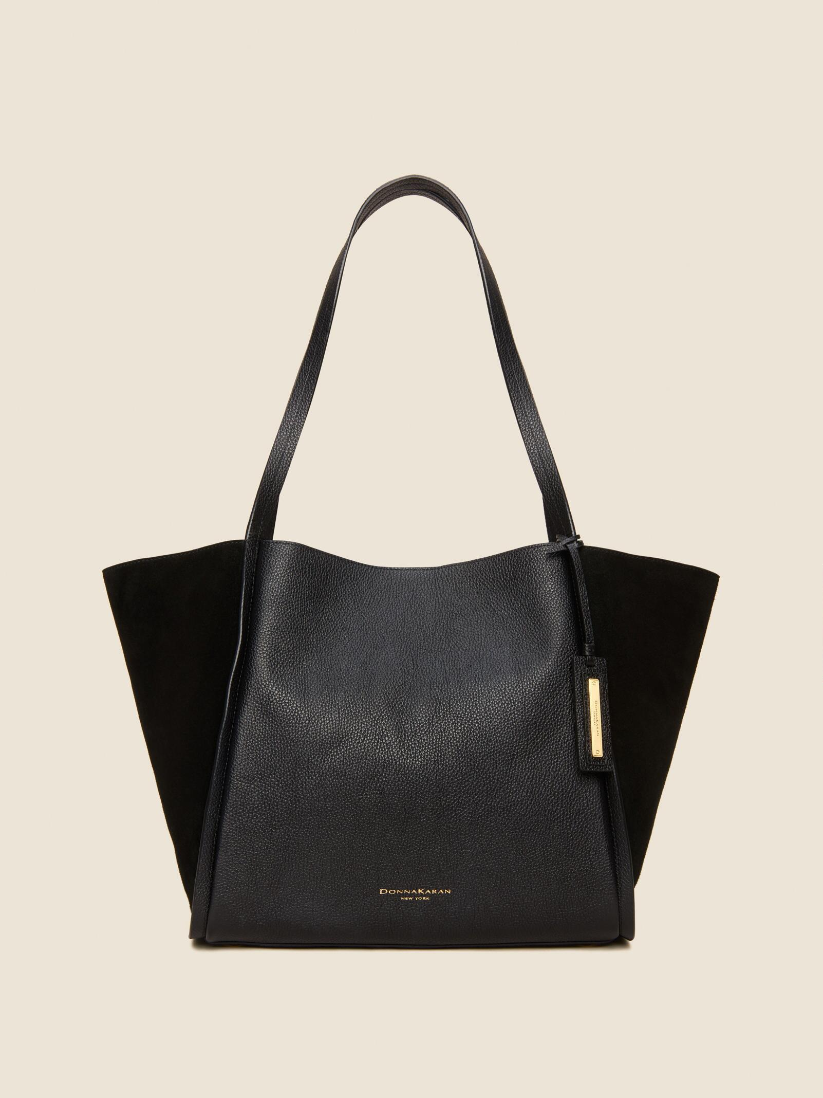 9277ba5ff2 Lyst - Dkny Alan Mixed-media Tote in Black