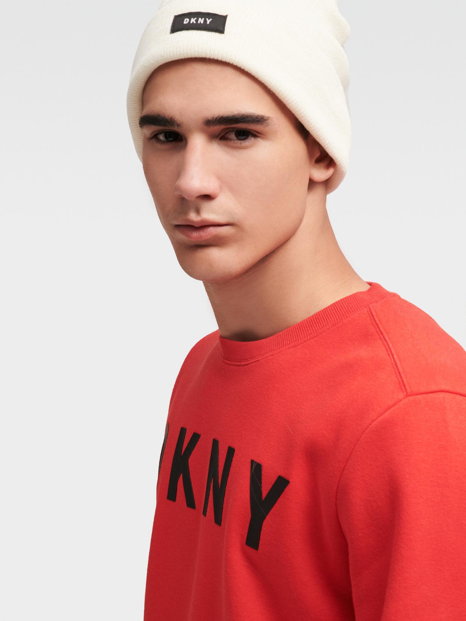 DKNY - White Foldover Logo Hat - Lyst. View fullscreen 1b023b57739c