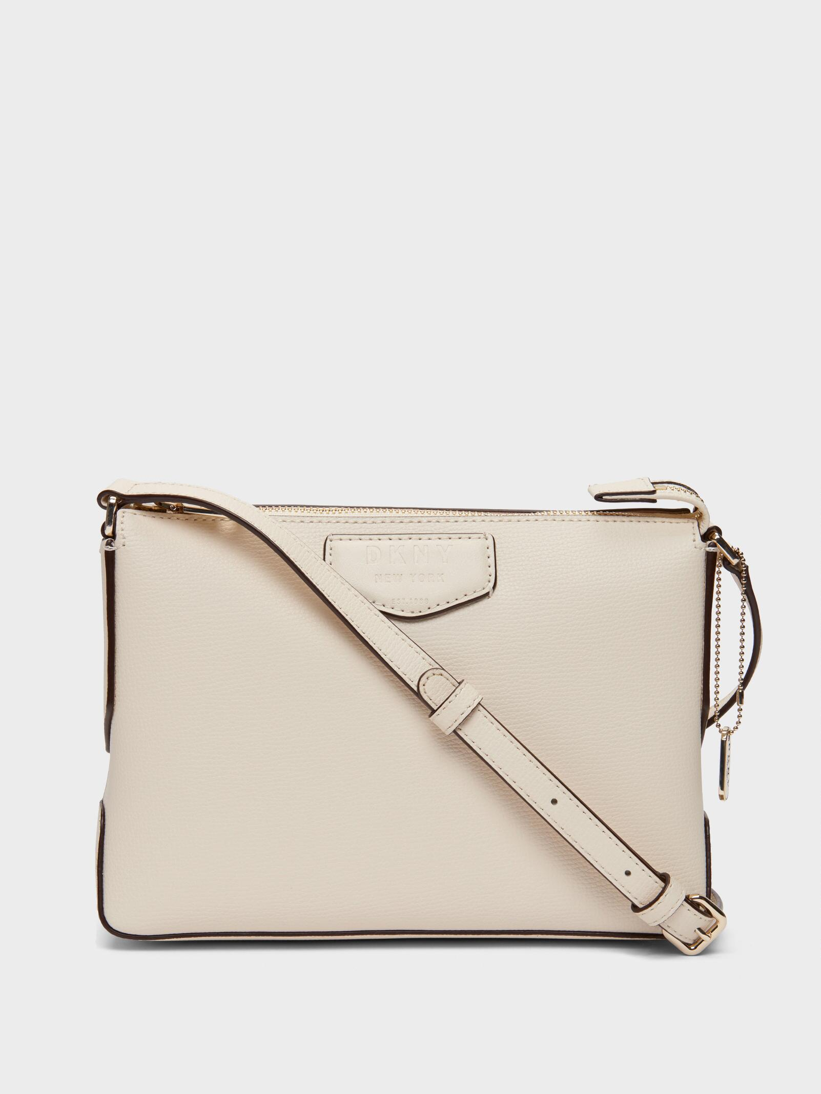 eee3d912a3 Lyst - DKNY Sullivan Leather Crossbody in White