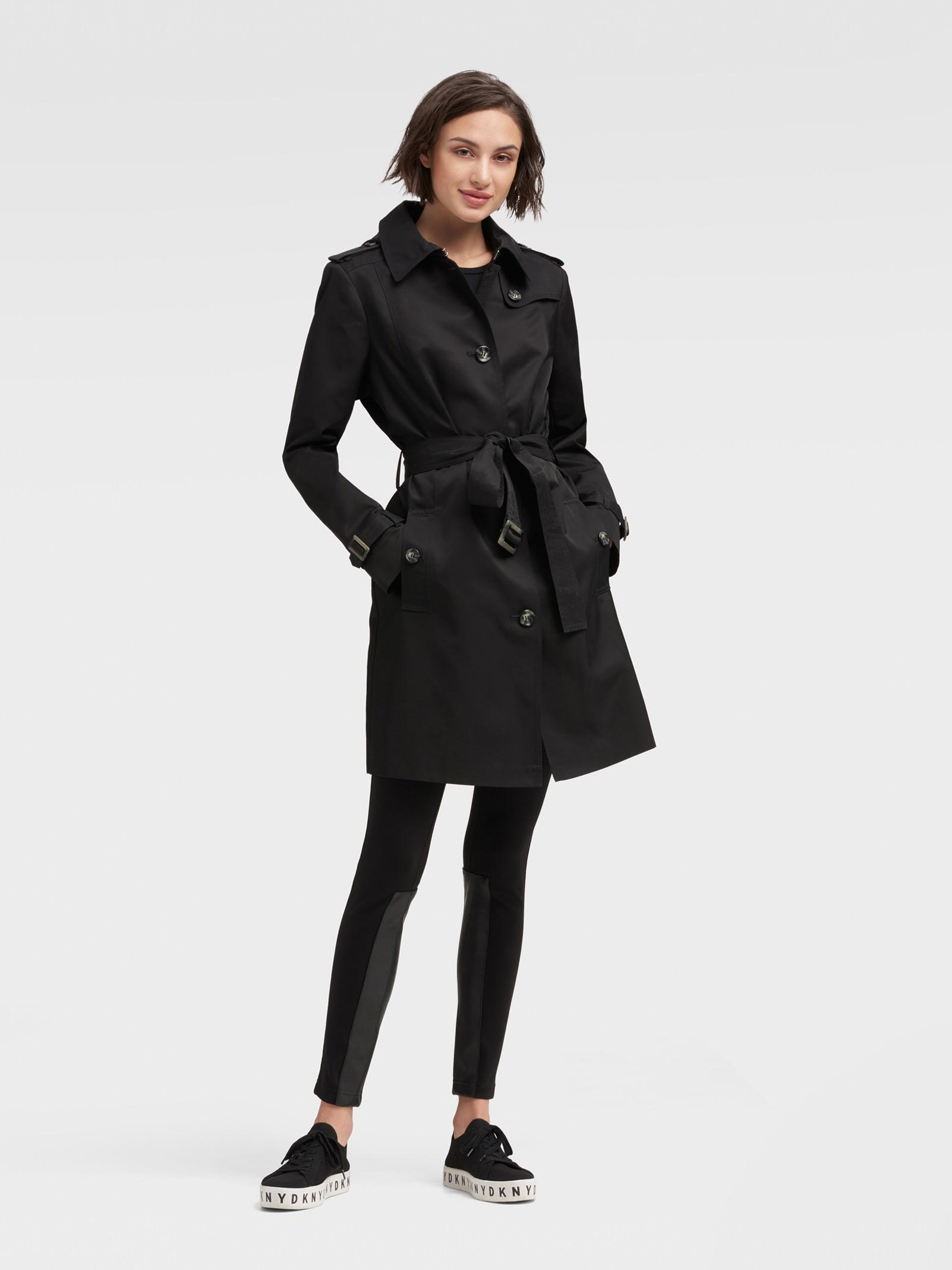 huge sale free shipping special buy DKNY Black Trench Coat