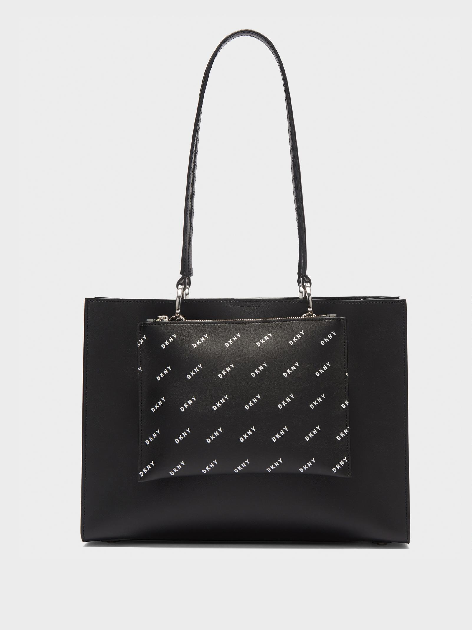 Lyst - DKNY Mott Large Tote With Printed Logo Pouch in Black 96bdf50228a39