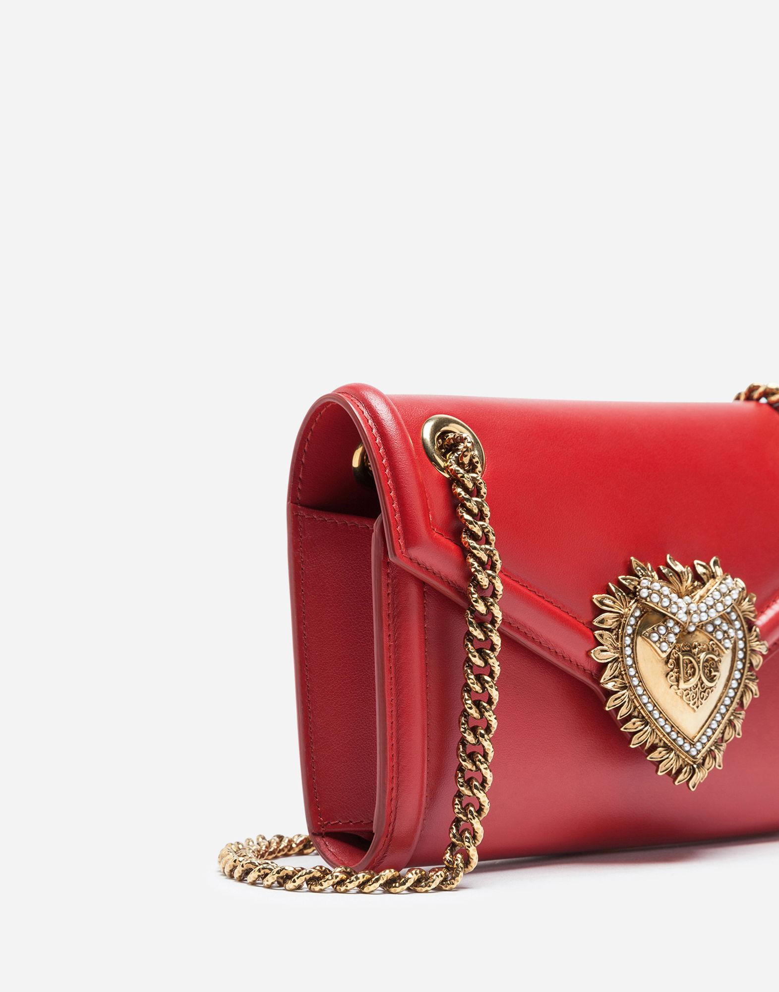 08942a566361 Lyst - Dolce   Gabbana Mini Devotion Bag In Smooth Calfskin in Red