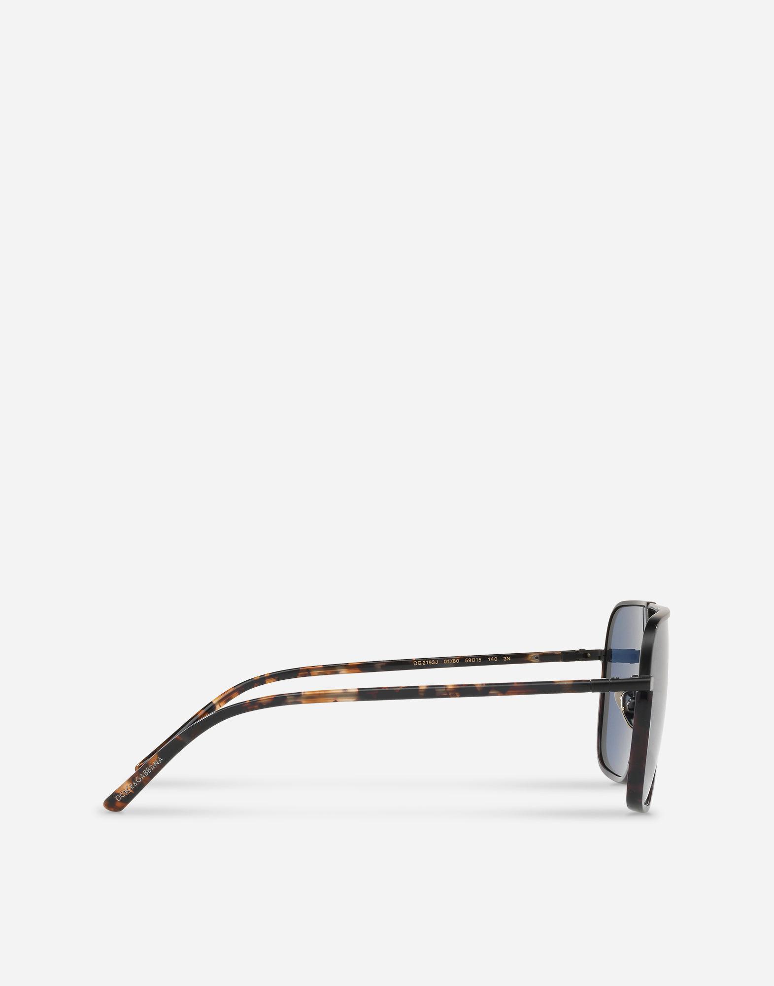 Soleil Pont Blue Rectangulaires Gabbana Lunettes Pour De Coloris Dolceamp; En Homme Avec Métal O08Nwmnv