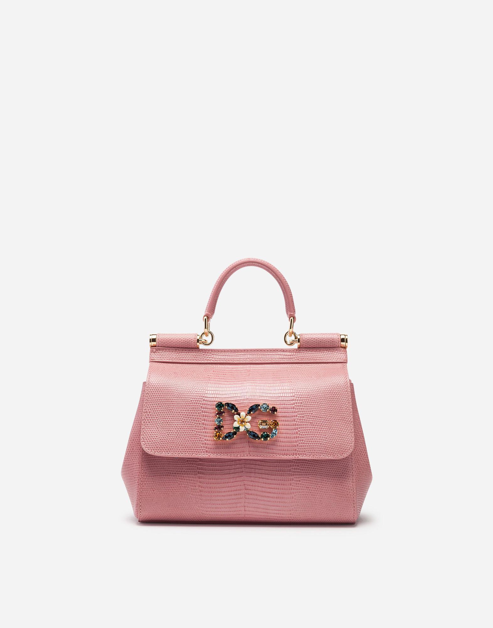 a36153937c73 Lyst - Dolce   Gabbana Small Sicily Handbag In Iguana Print Calfskin ...