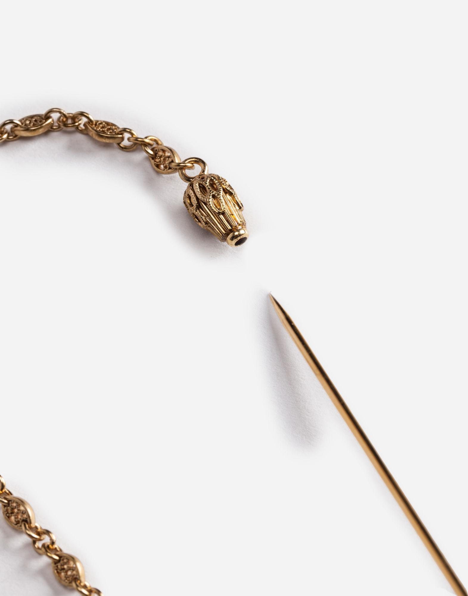 Dolce & Gabbana Metallic Metal Lapel Pin With Emblem