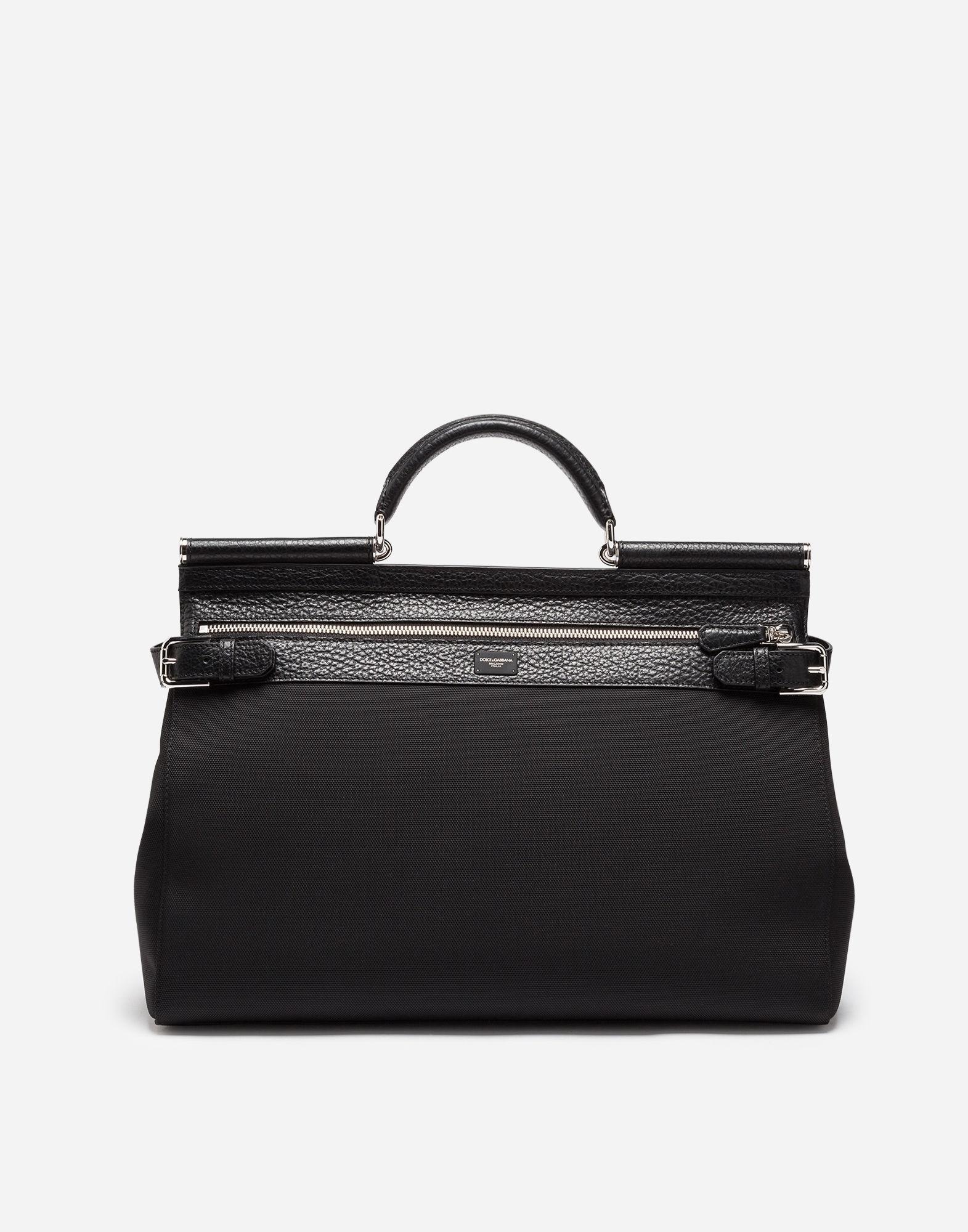 Lyst - Dolce   Gabbana Handheld Sicily Bag In Canvas in Black ecb209516f850