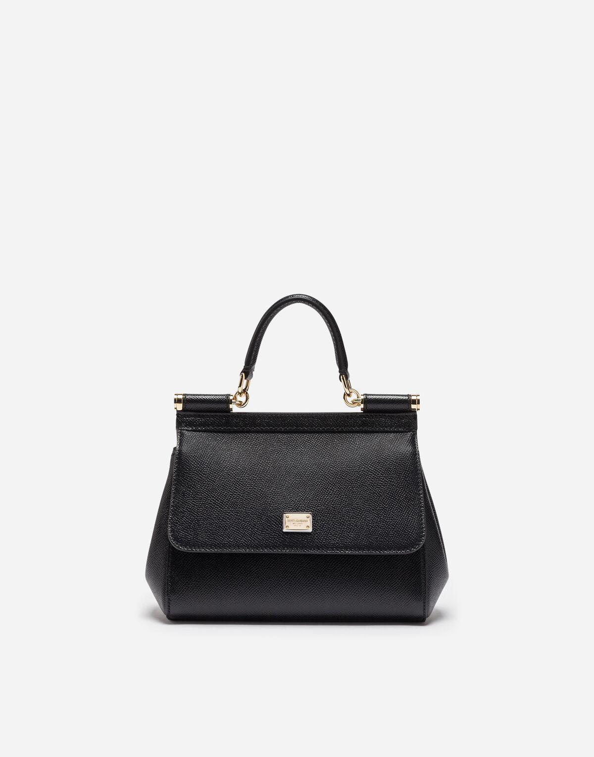 Lyst - Dolce   Gabbana Small Dauphine Leather Sicily Bag in Black cd39dfce16f3a