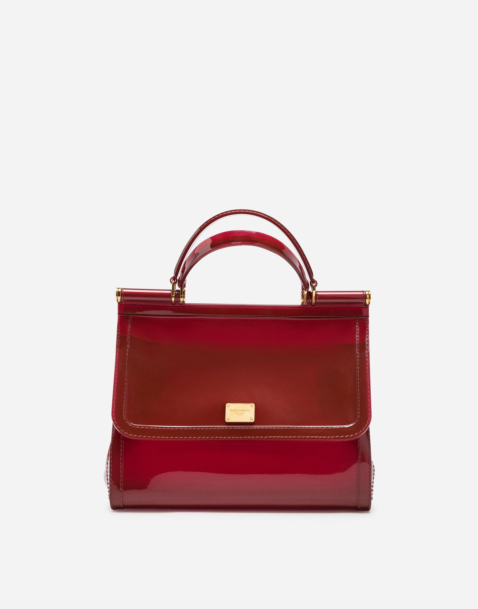 357db84e1a70 Lyst - Dolce   Gabbana Semi-transparent Rubber Sicily Handbag in Red