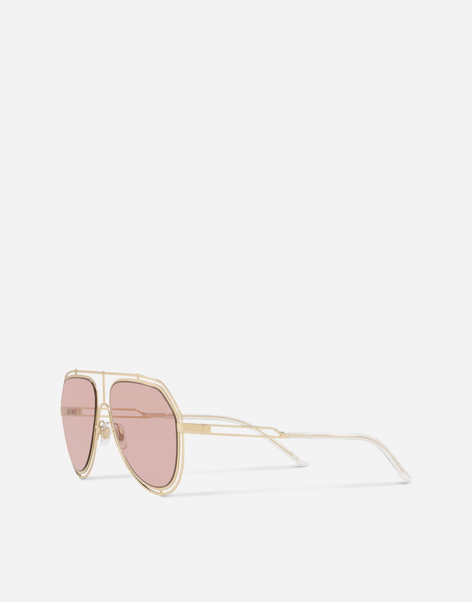 eb80c0cbcd68 Lyst - Dolce   Gabbana Empty Cut Sunglasses in Metallic