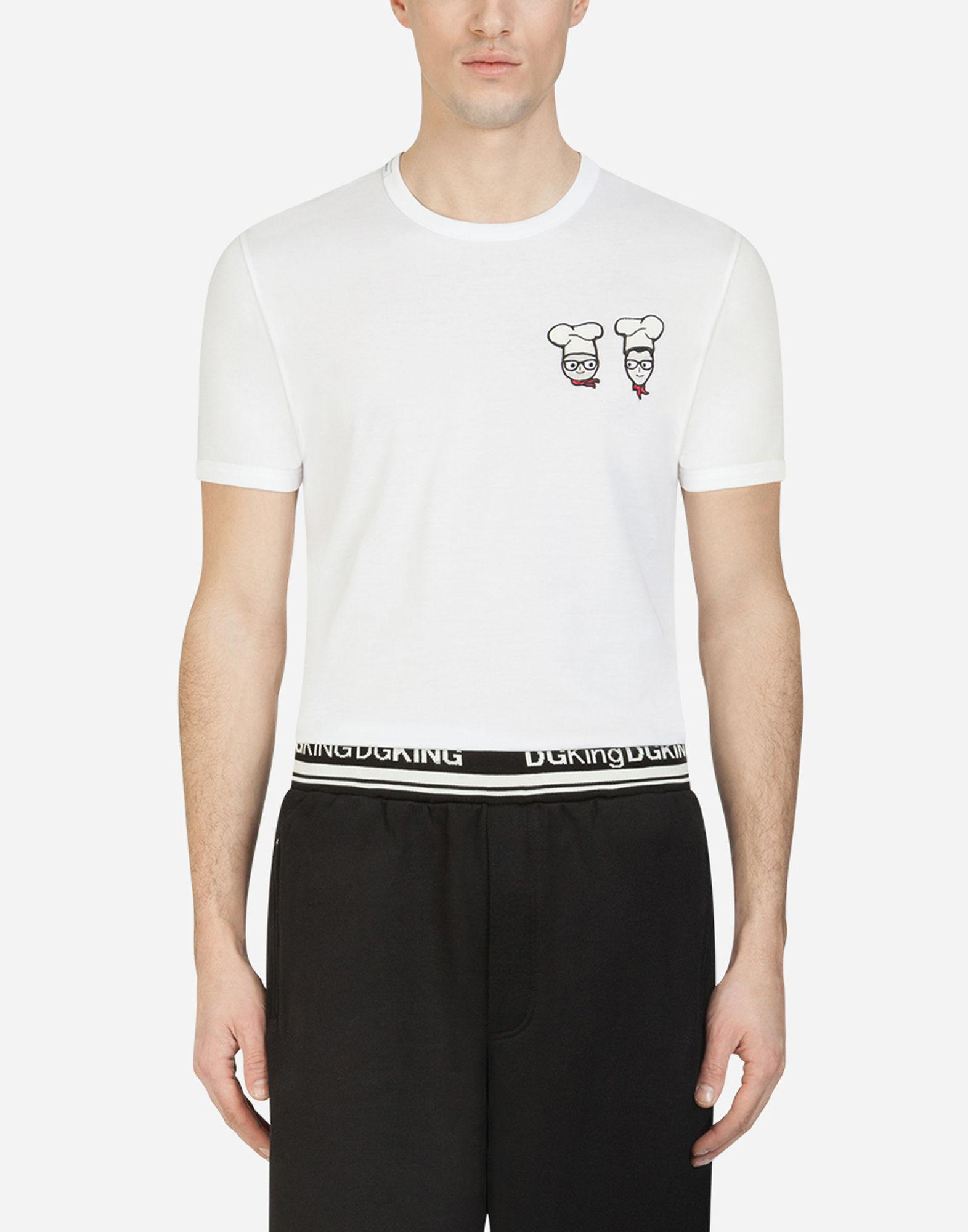 07825f5e7 Lyst - Dolce & Gabbana T-shirt In Cotton With Dg Family Patch in ...