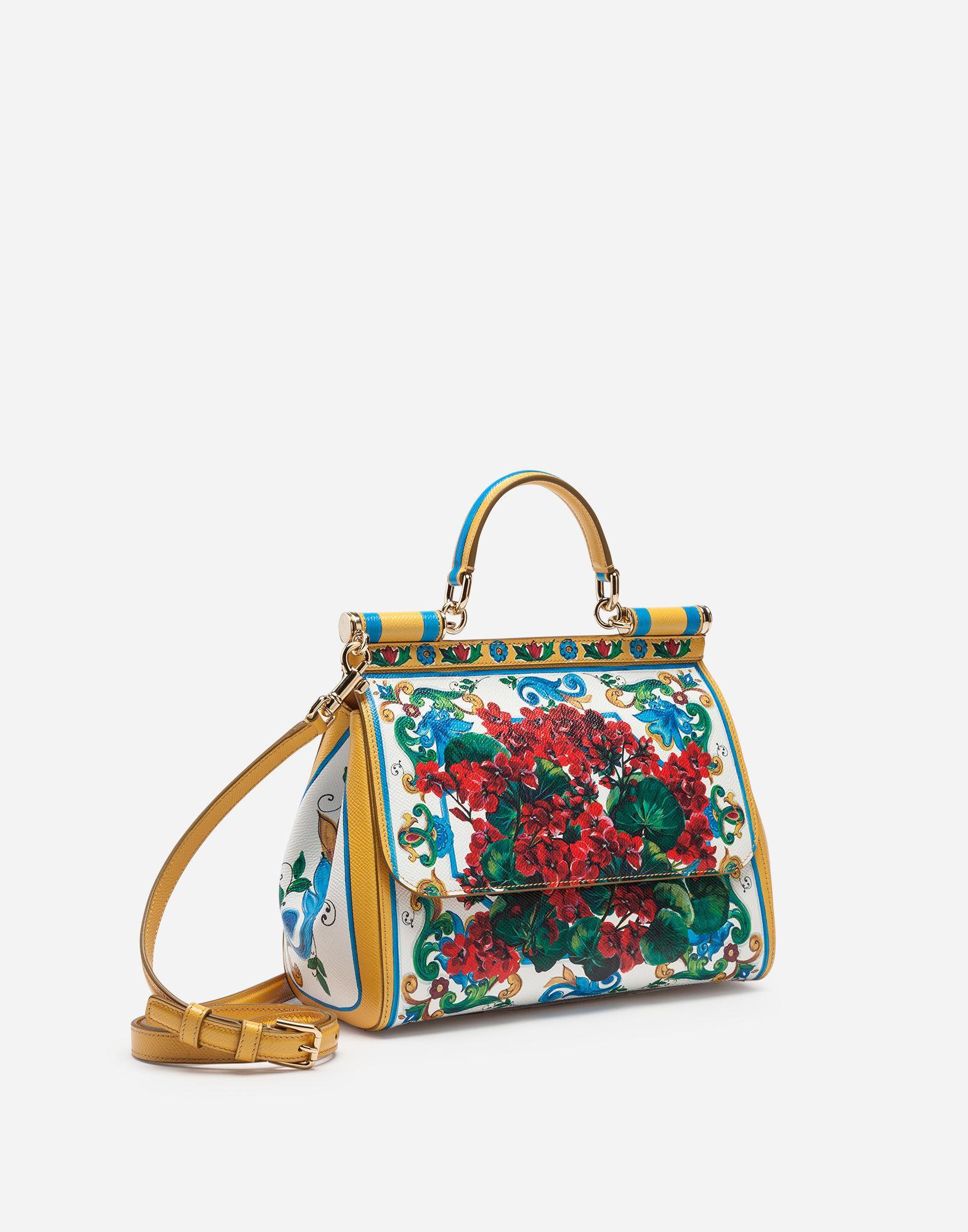 Lyst - Dolce   Gabbana Medium Sicily Bag In Printed Dauphine Calfskin 2c8f3b72f7