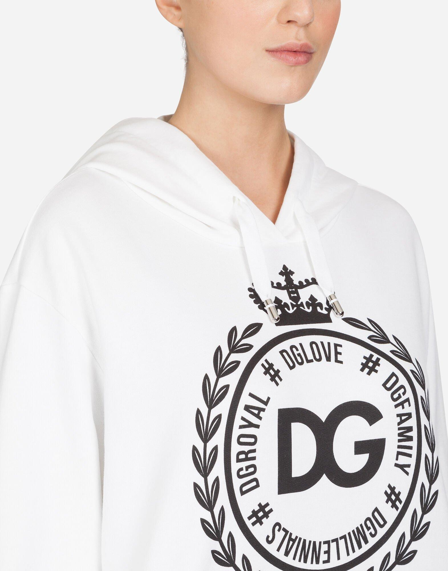 Sudadera De Algodón Estampada Dolce & Gabbana de color Blanco