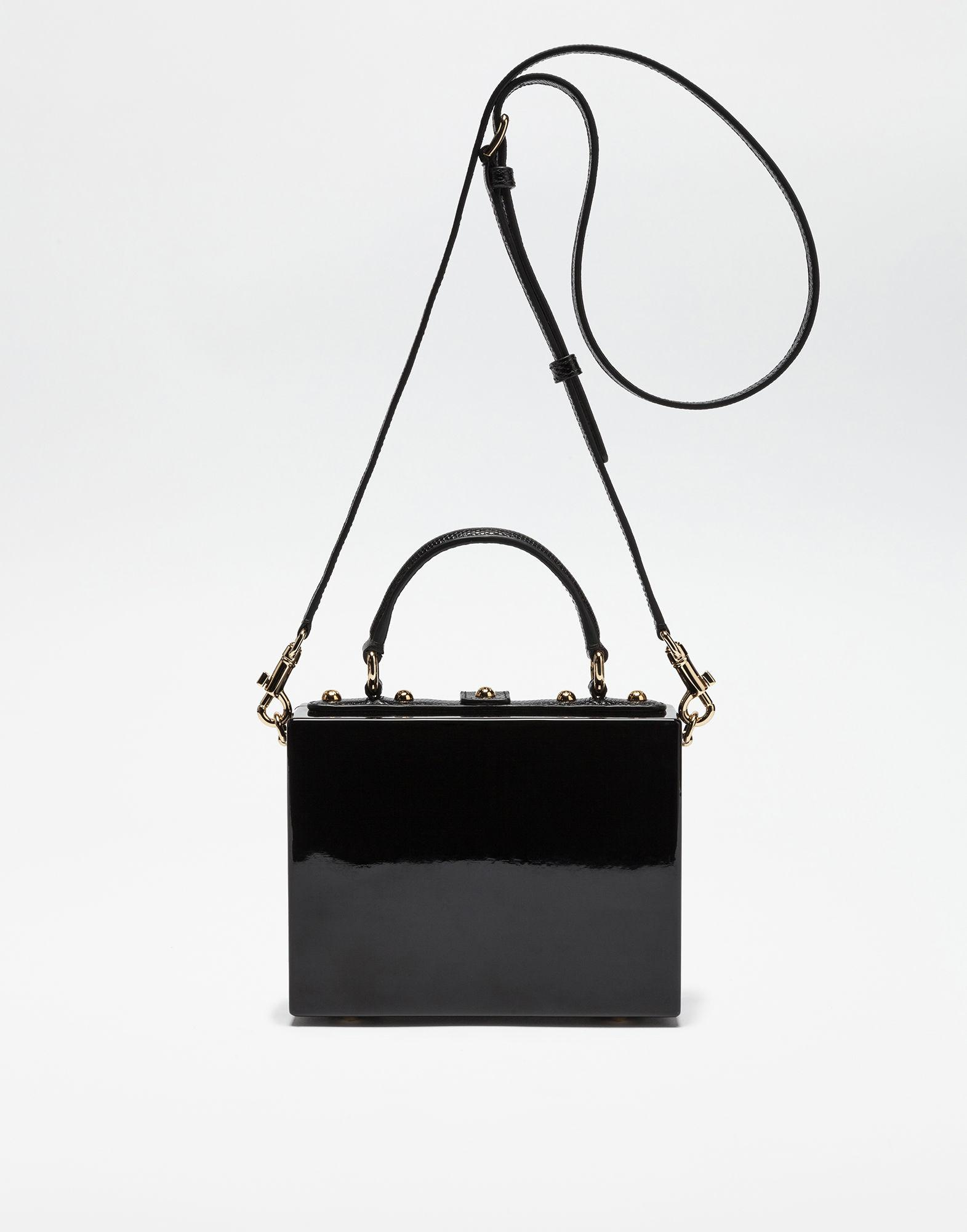 71230d1a93dc Lyst - Dolce   Gabbana Hand-painted Wood Dolce Box Bag