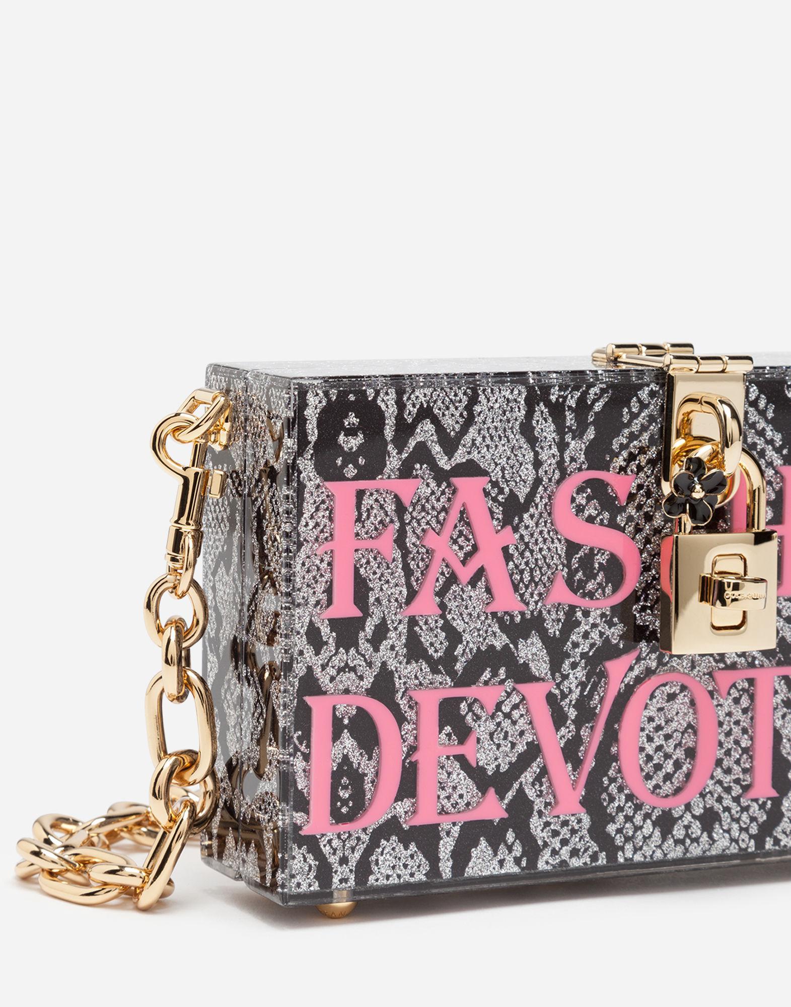 Lyst - Dolce   Gabbana Dolce Box Clutch In Plexi With Chain 56c3d6f729639
