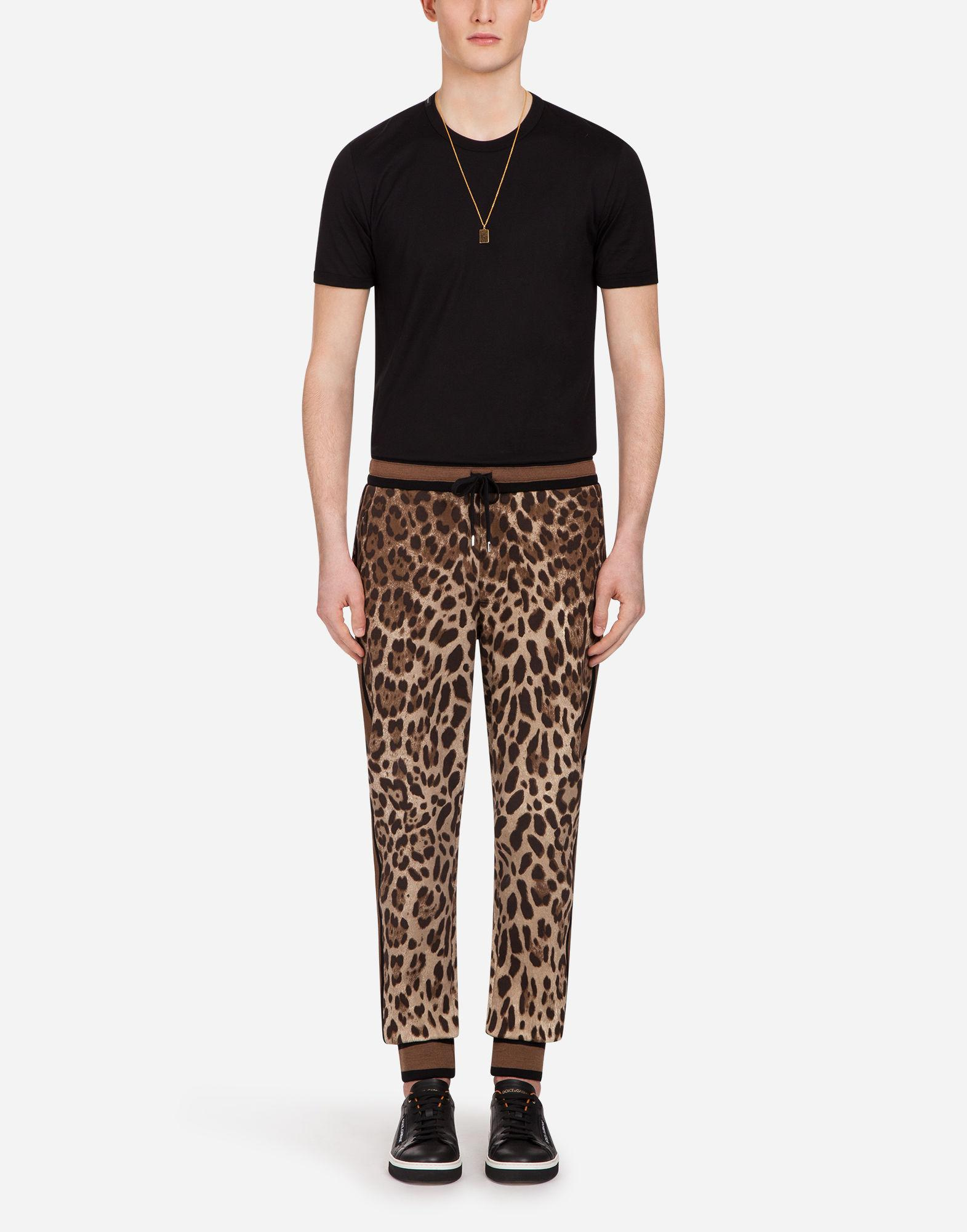 Dolce & Gabbana Cotton Jogging Pants In Printed Jersey for Men