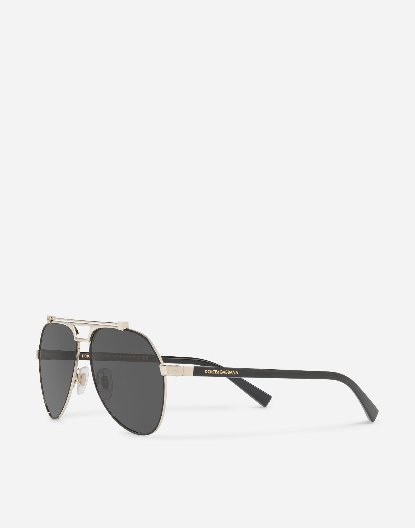 a1e8fdf8a62f Lyst - Dolce   Gabbana Shiny Metal Aviator Sunglasses in Metallic ...