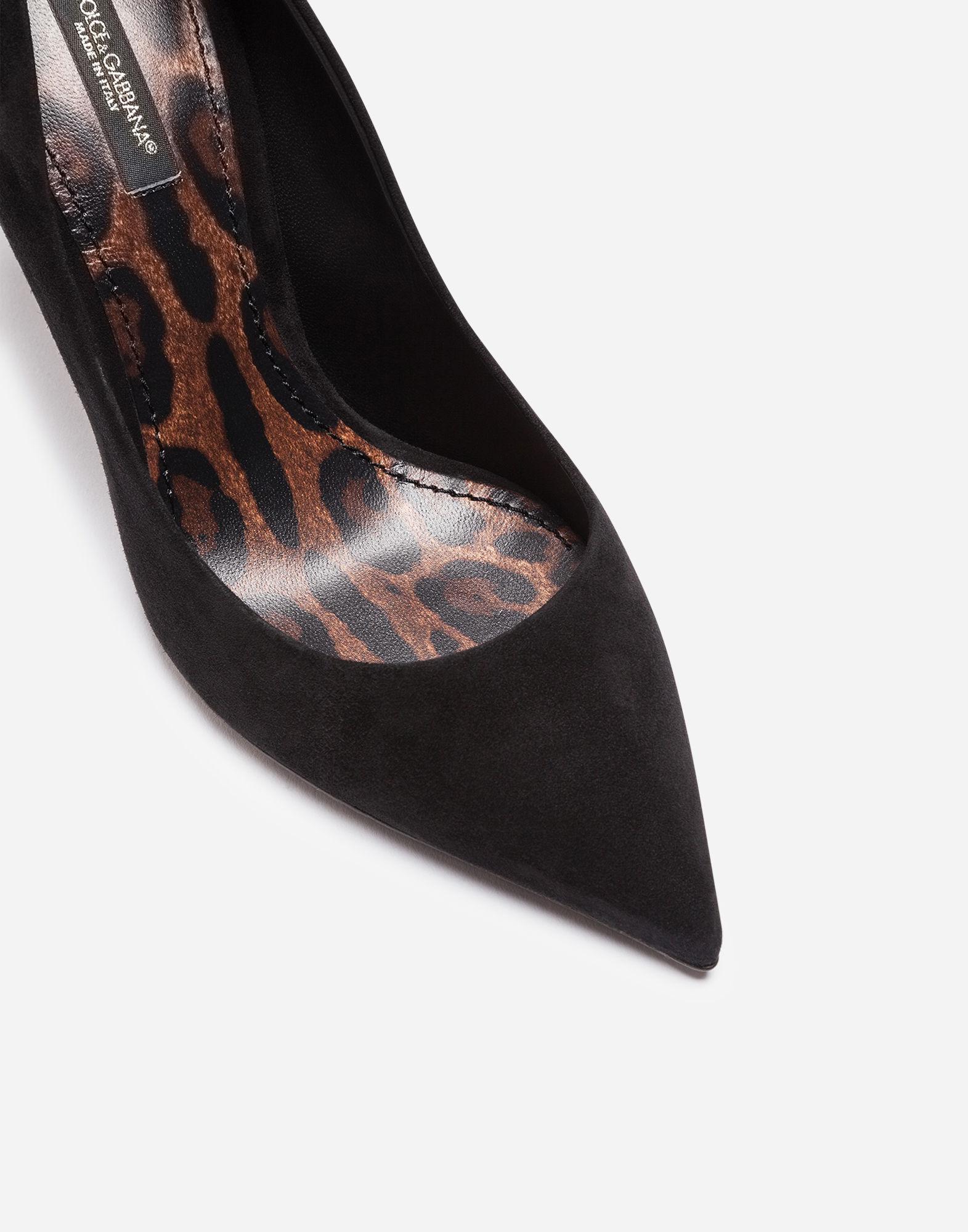 fd90f2b5286 Dolce & Gabbana Suede Pumps With A Leopard Print Sole in Black - Lyst