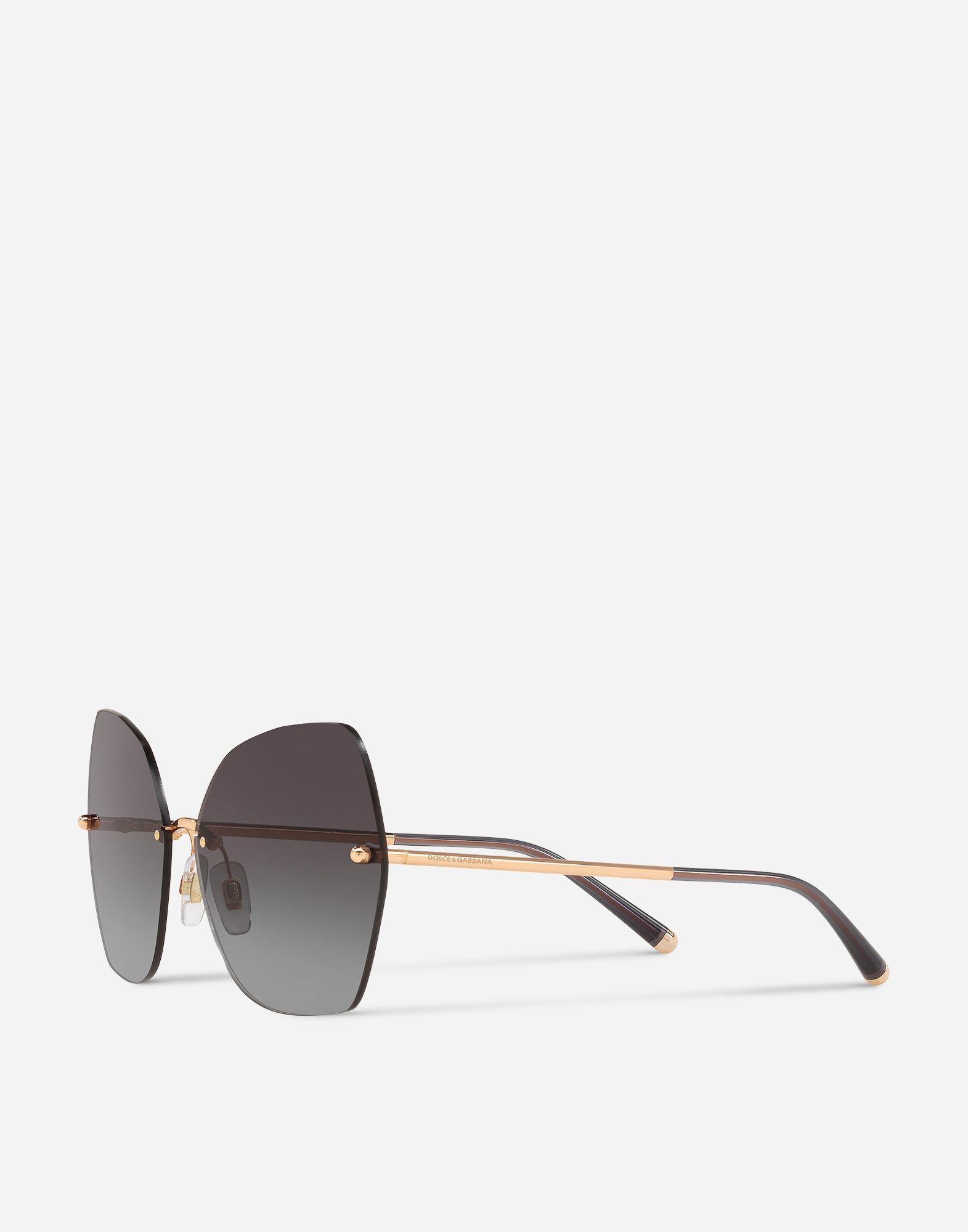 fadd1c8242 Lyst - Dolce   Gabbana Butterfly Sunglasses With Metal Details in Metallic