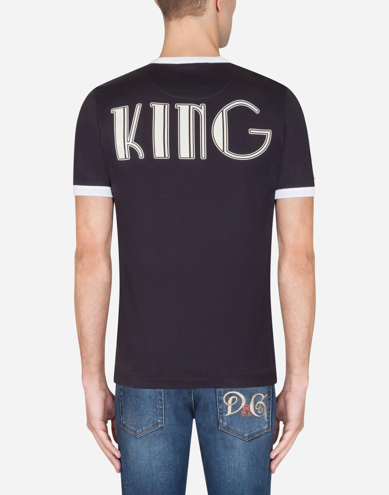 5f6f4bd4f Lyst - Dolce & Gabbana Cotton T-shirt With Print in Black for Men