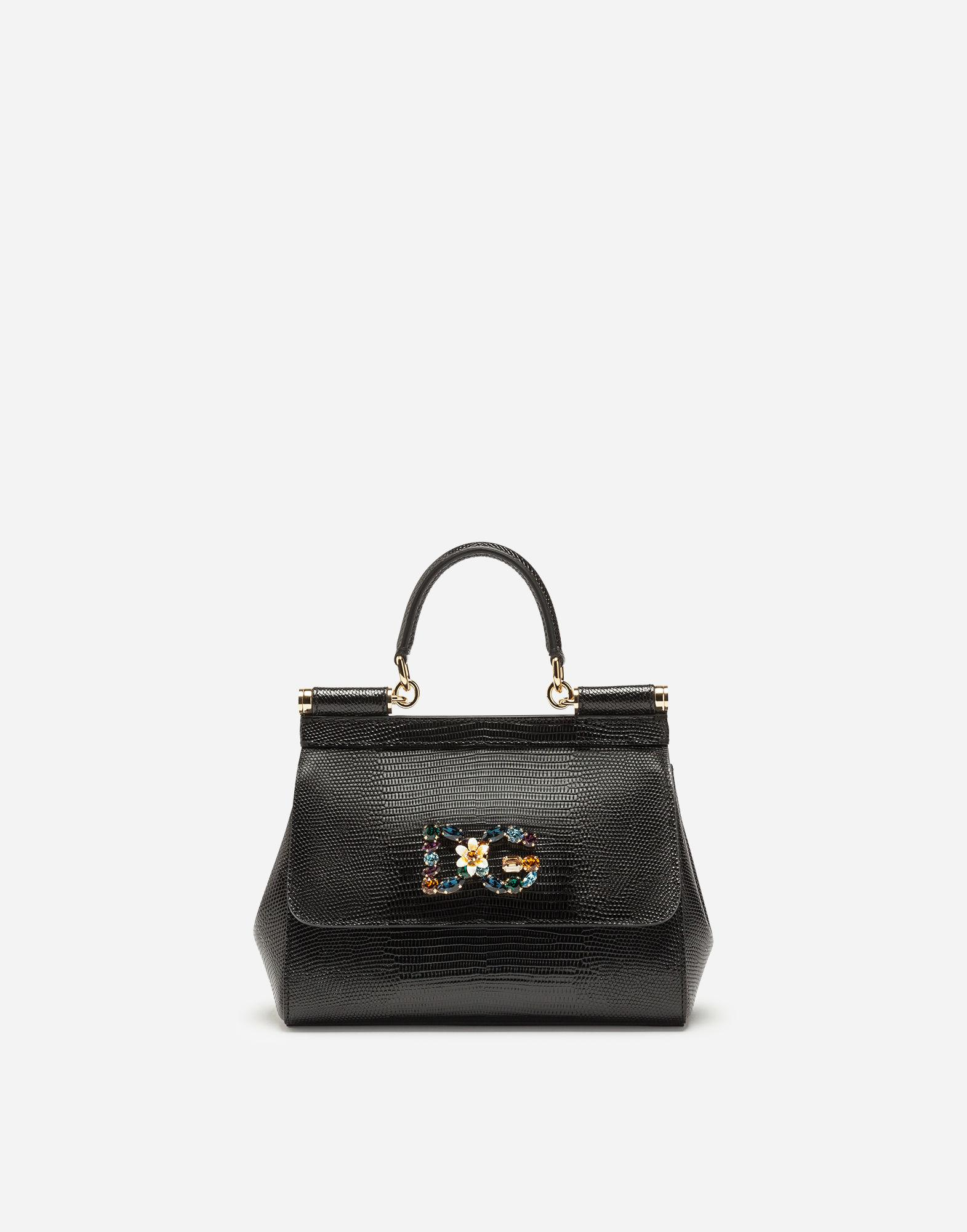 Lyst - Dolce   Gabbana Small Calfskin Sicily Bag With Iguana-print ... b38cc7abed4ca
